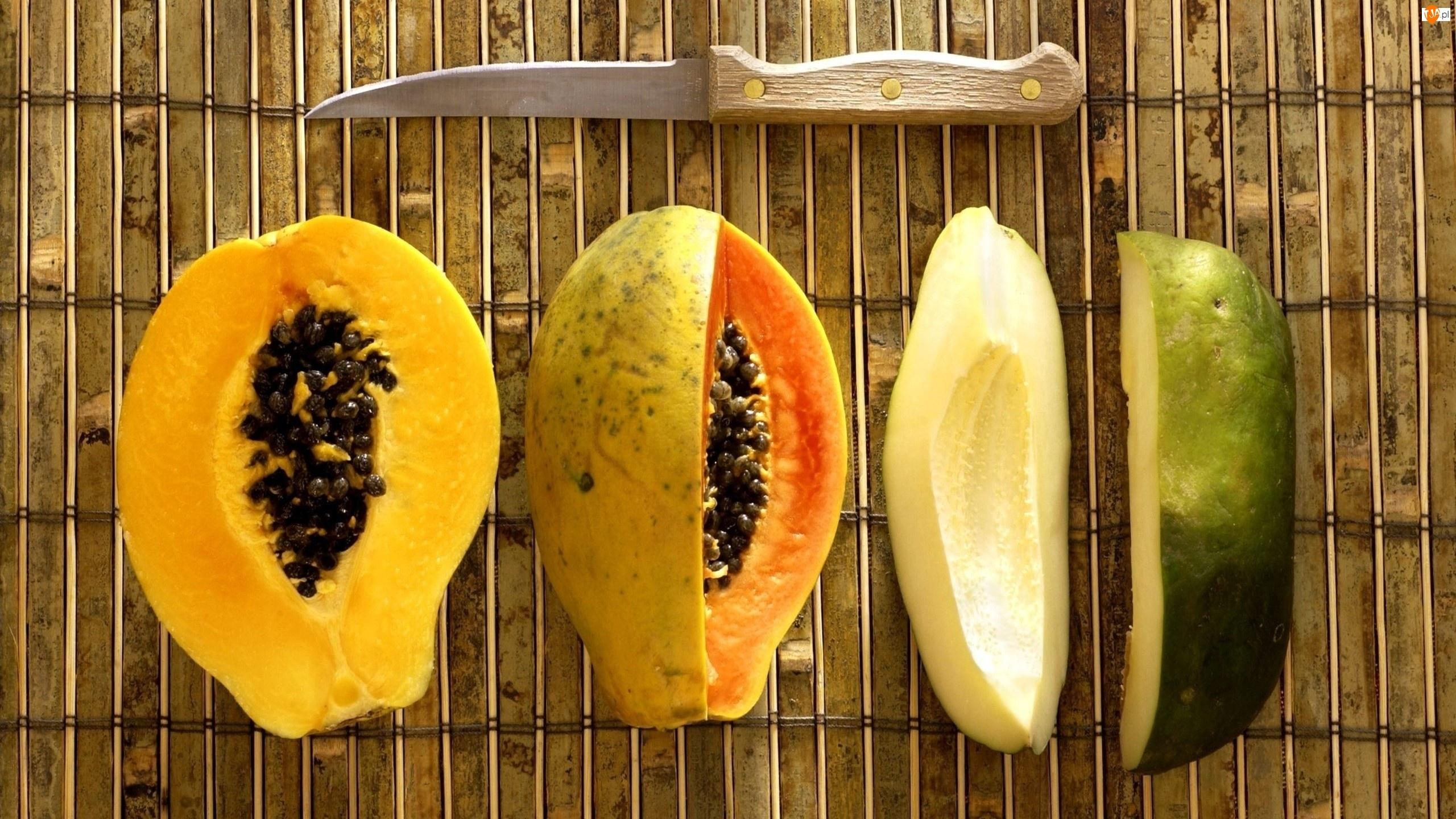 Nóż, Papaja, Owoc