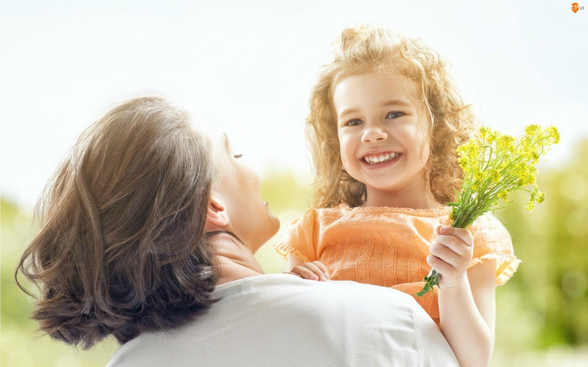 Bukiecik, Dzień, Kobieta, Matki, Dziecko, Kwiatów
