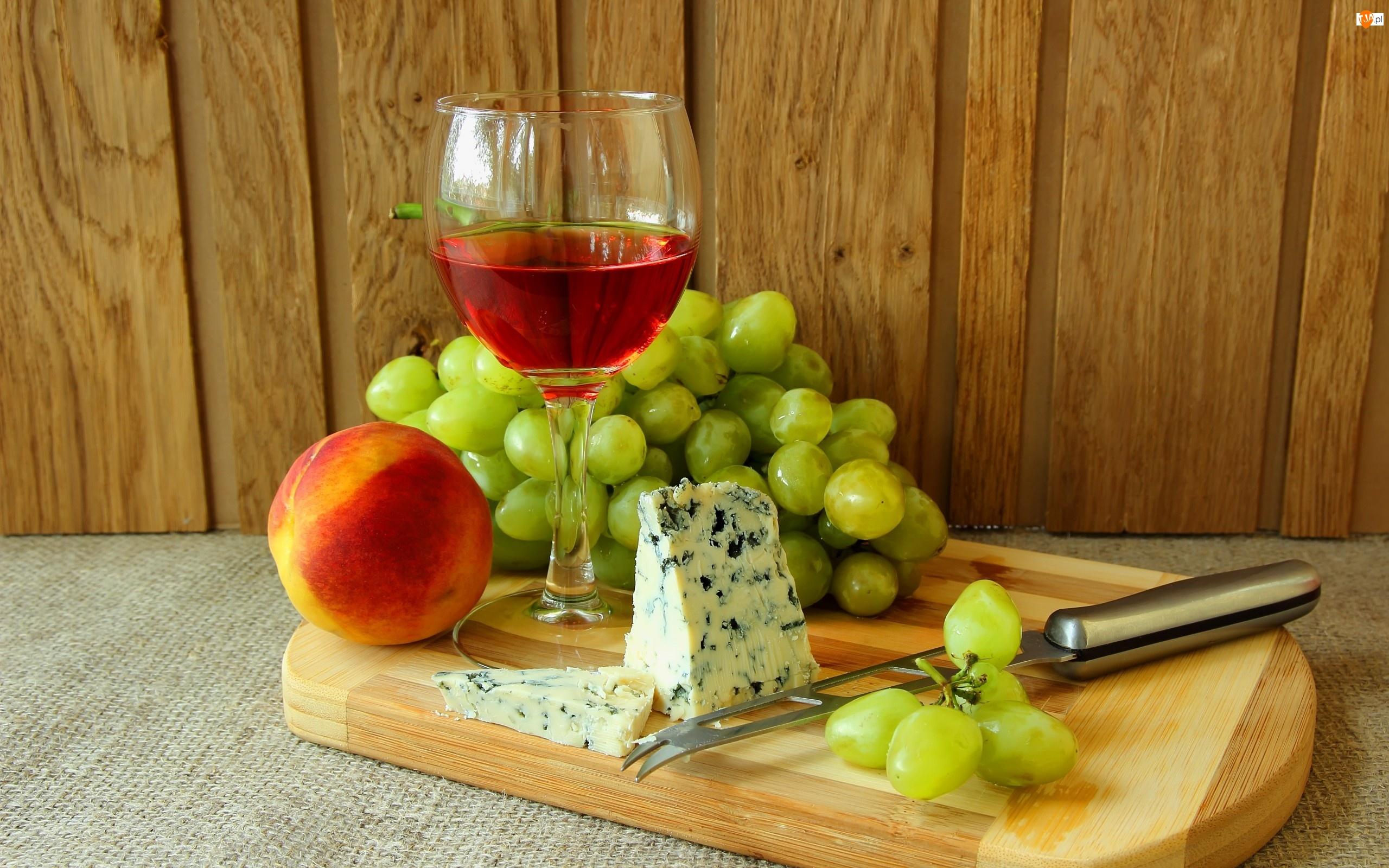 Wino, Winogrona, Ser, Brzoskwinia