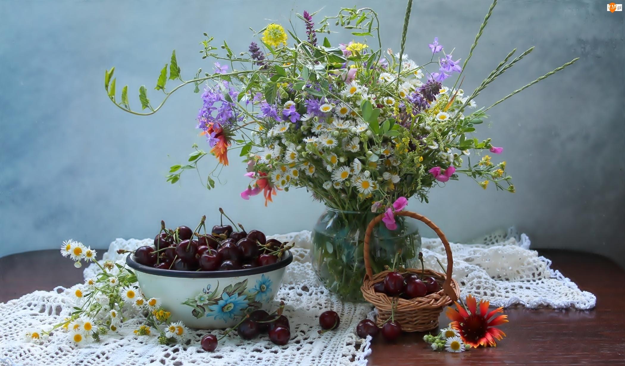 Polne, Wiśnie, Kwiaty, Flakon