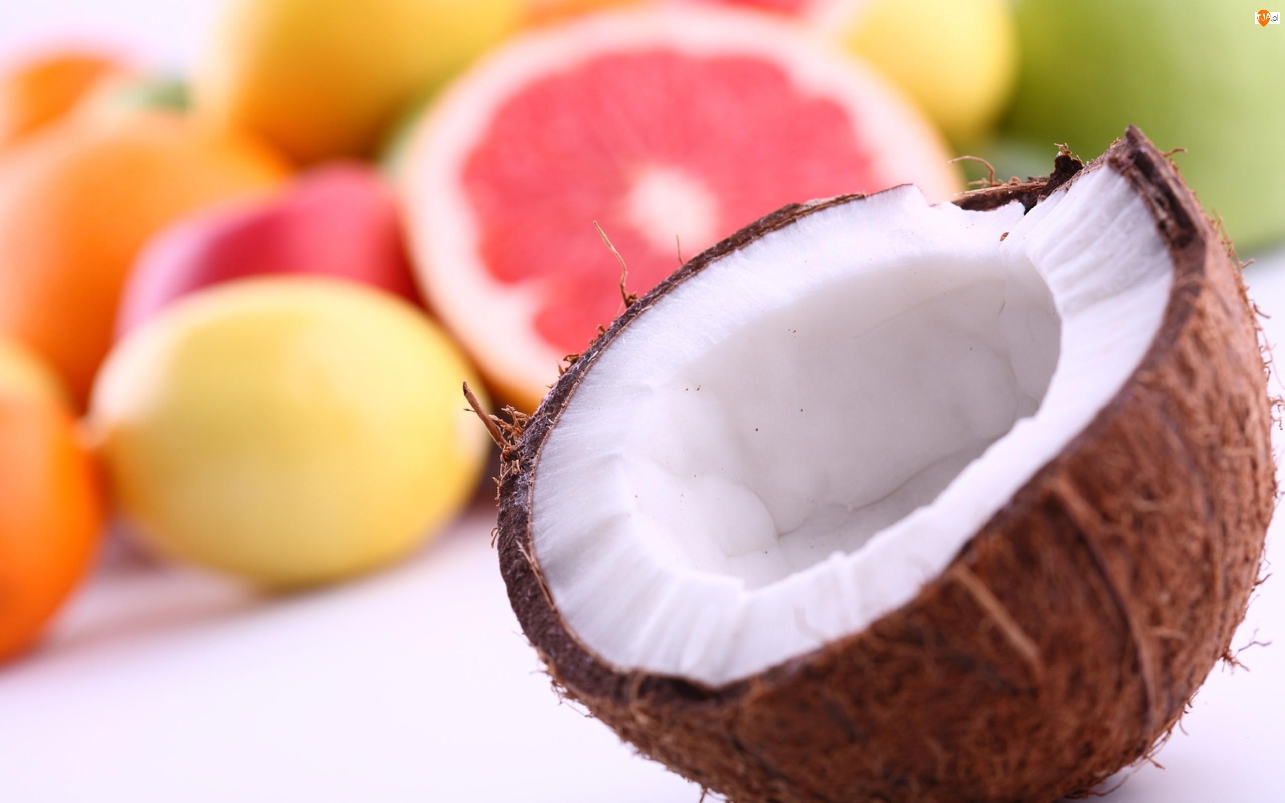Owoce, Kokos, Połowa
