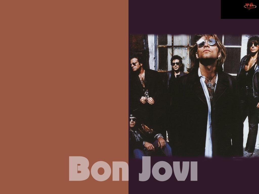 okulary, Bon Jovi, cały zespól