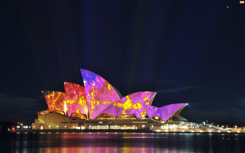 Noc, Australia, Sydney Opera House, Sydney, Miasto