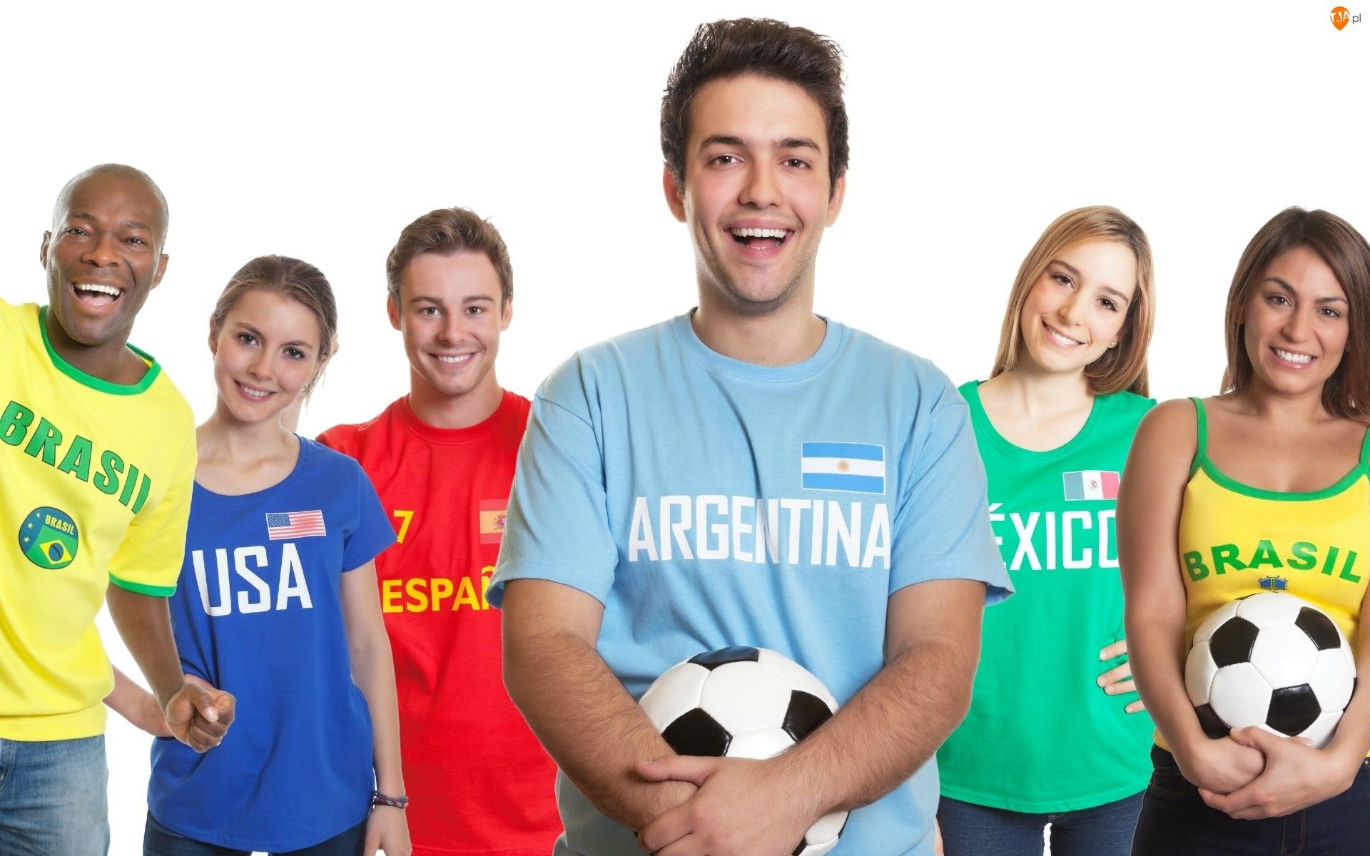2014, Mistrzostwa, Piłki, Kibice, Brazylia, Nożnej, Świata