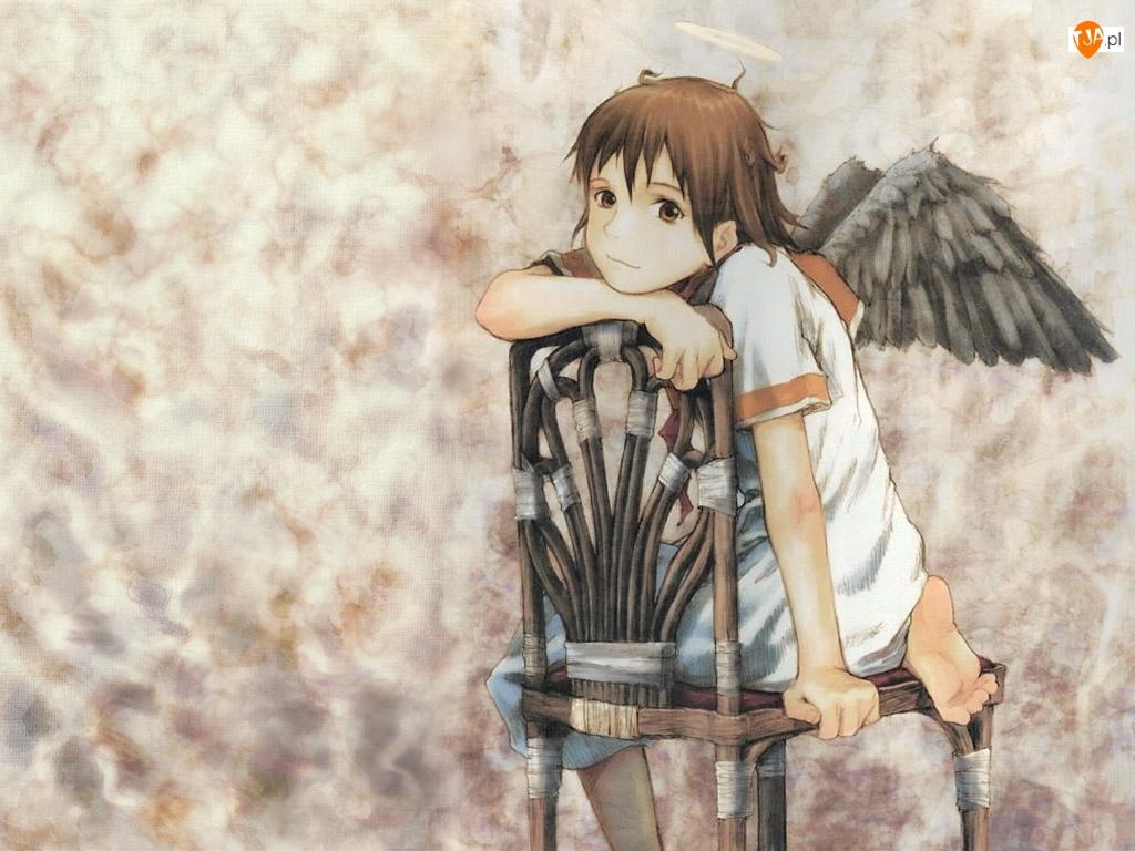anioł, Haibane Renmei, krzesło