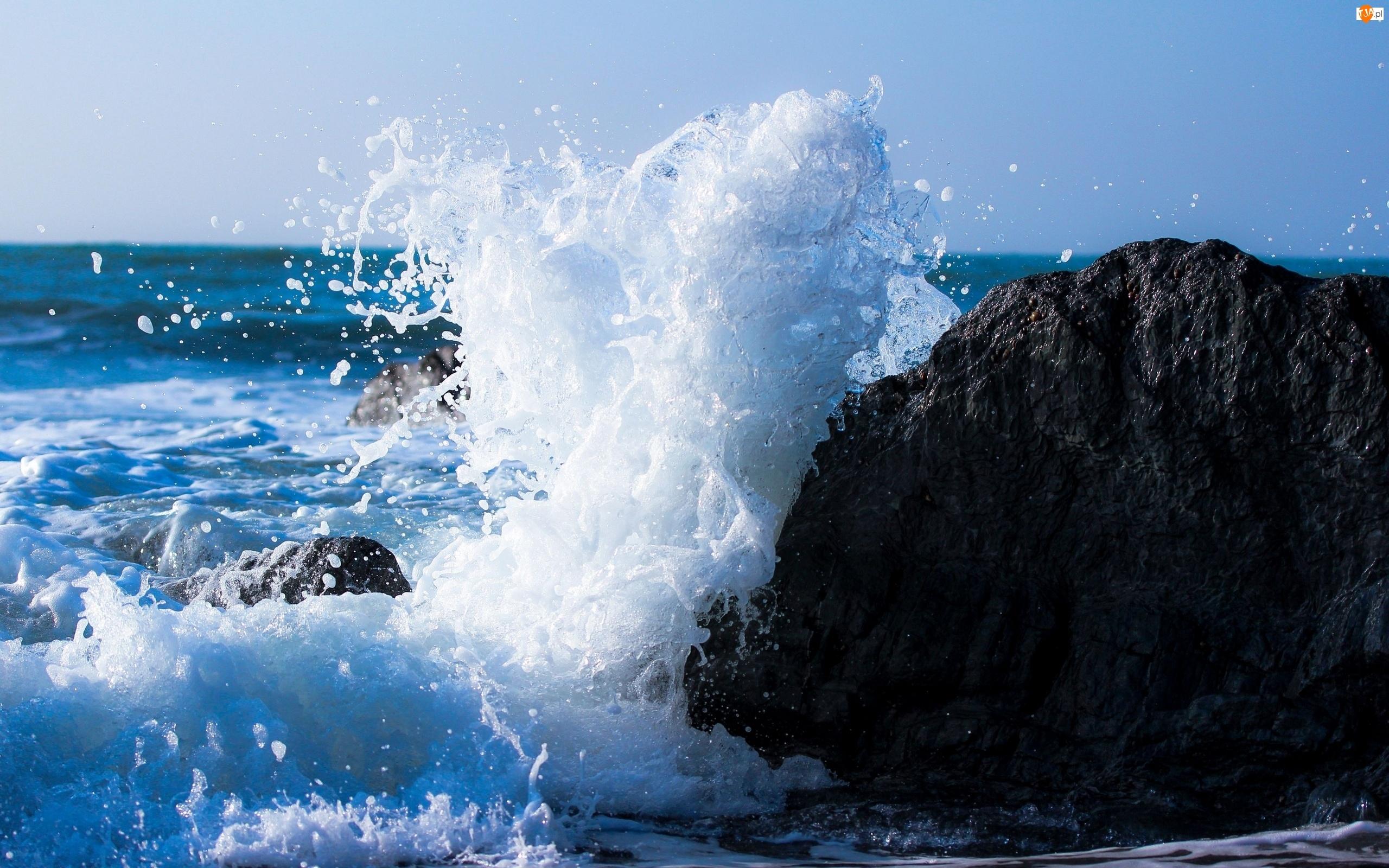 Morze, Fala, Skała, Kamienie