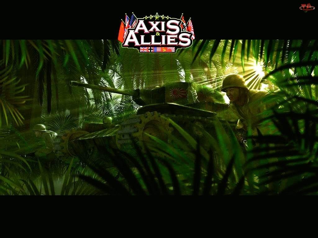 dżungla, Axis And Allies, żołnierz, czołg