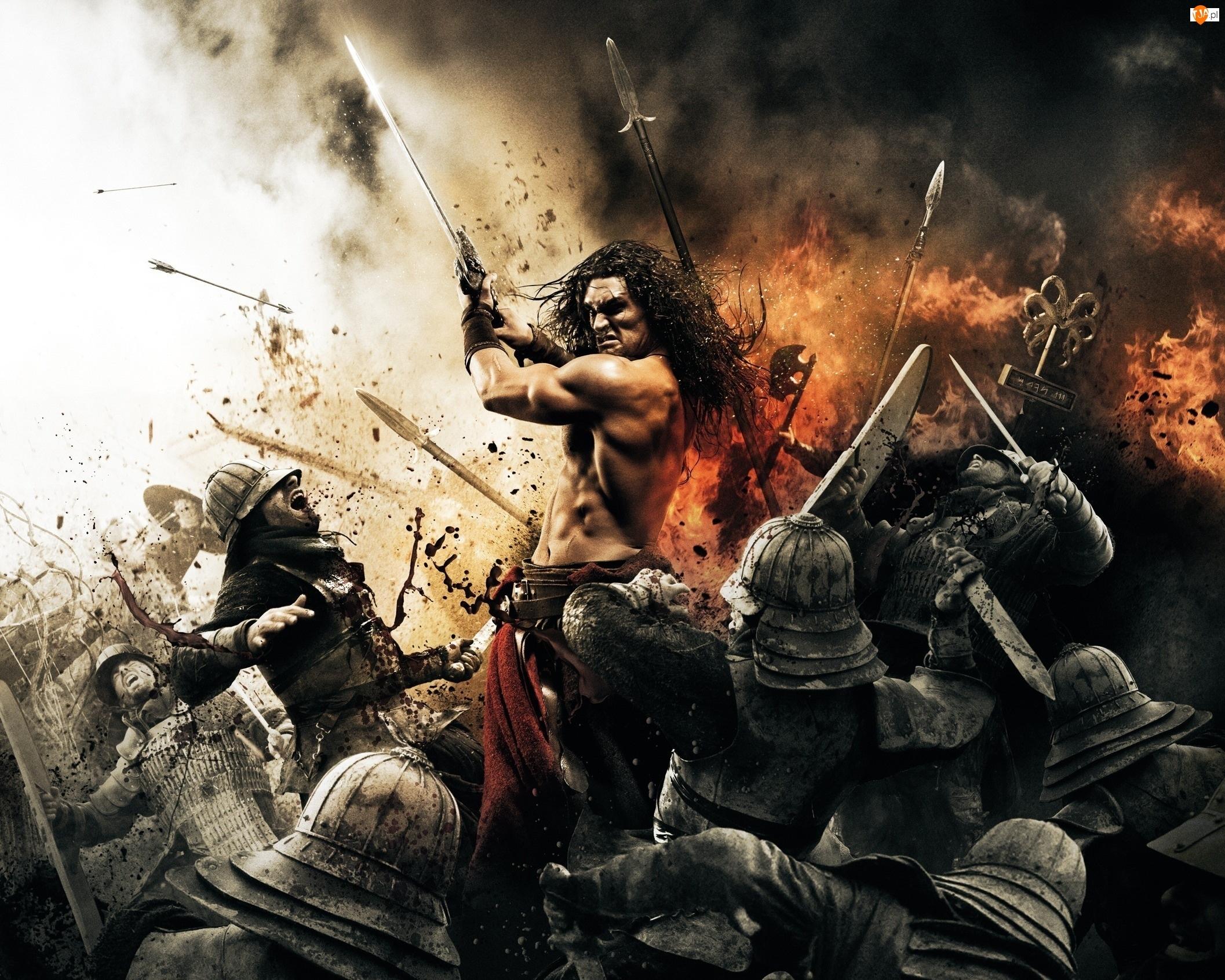 Wojownicy, Walka, Płomienie