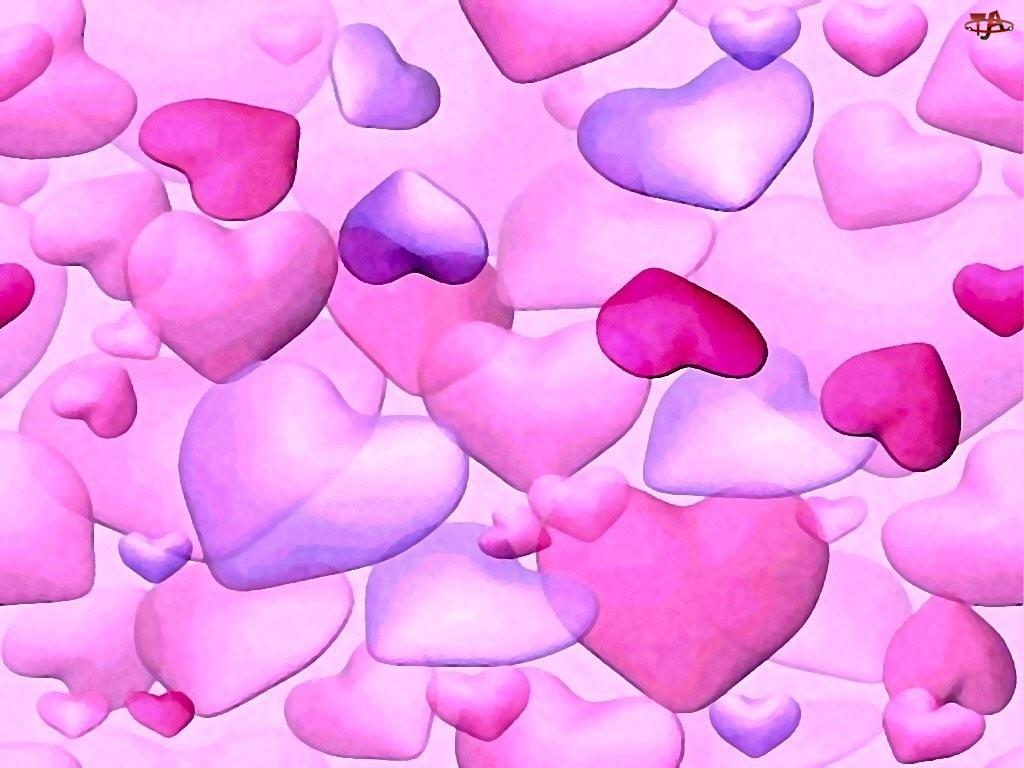Walentynki, różowe serca