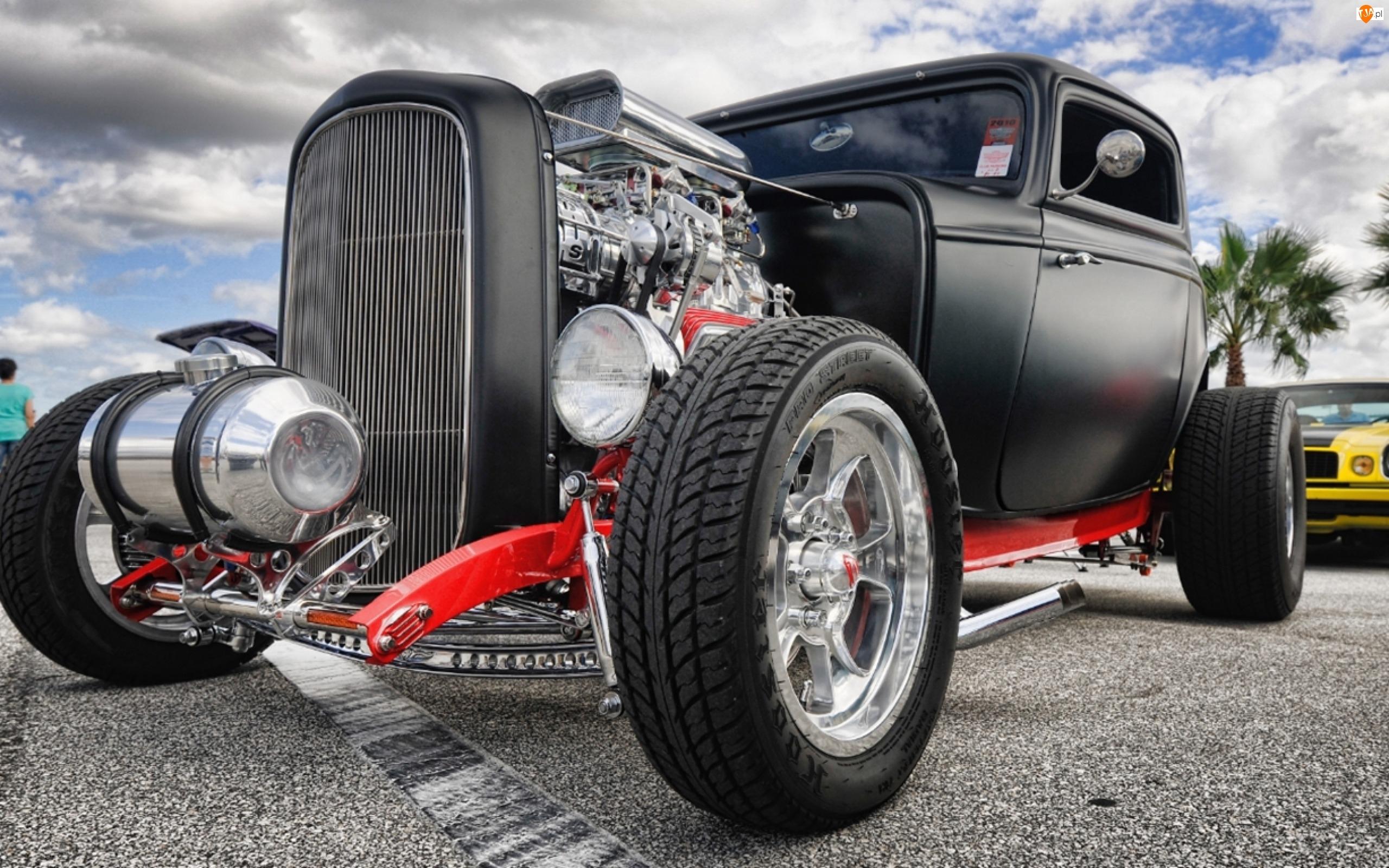 Hot Rod, Samochód, Supercar, Retro