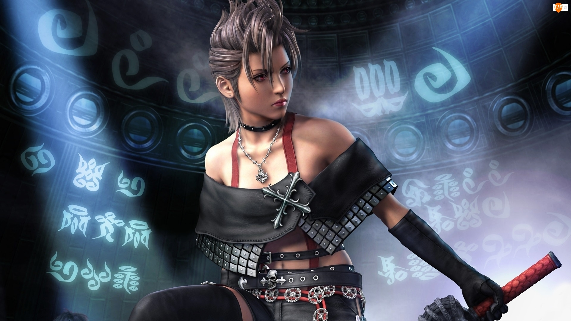 Final Fantasy X-2, Strój, Kobieta, Skórzany