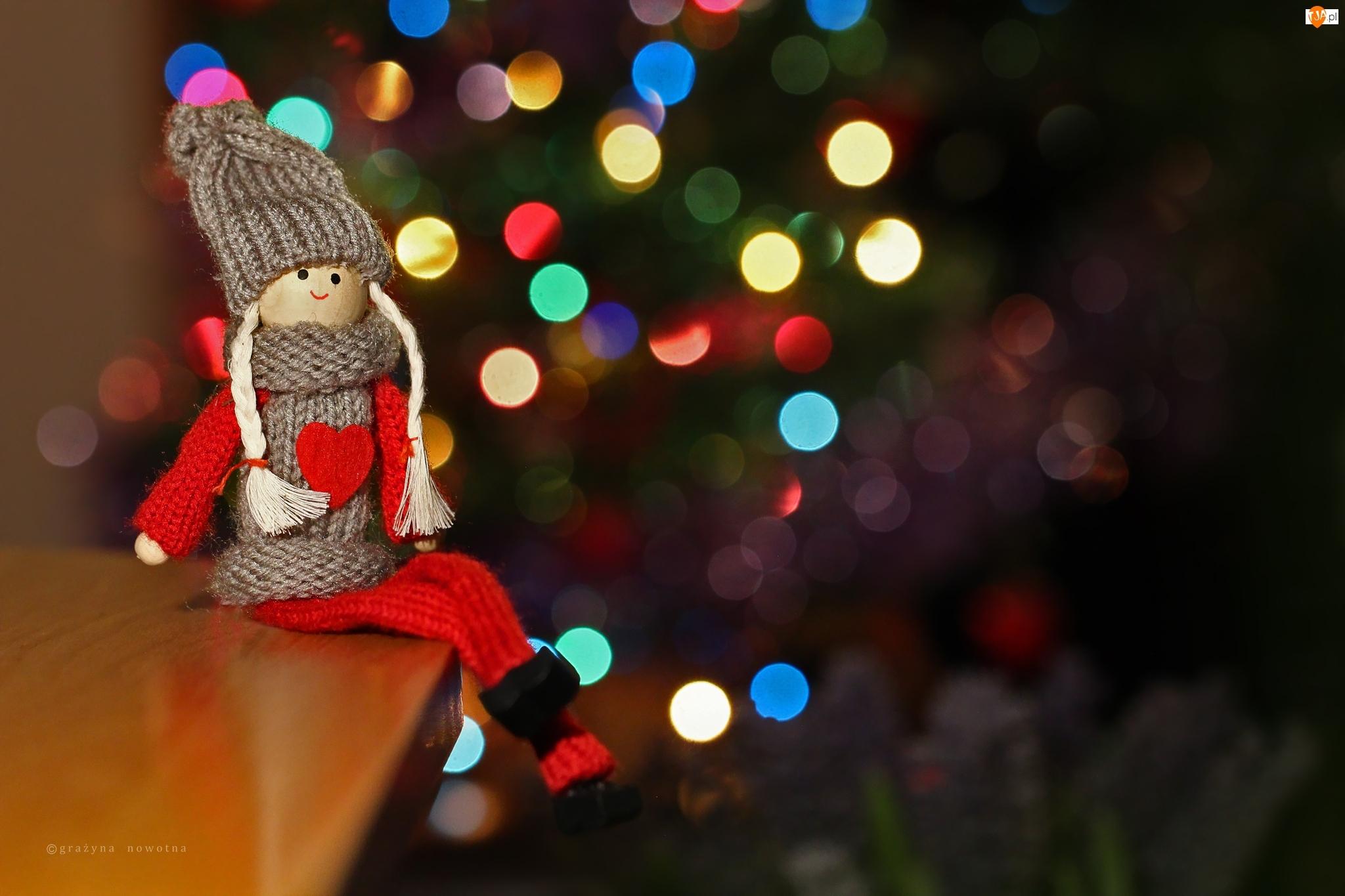 Laleczka, Boże Narodzenie, Choinka, Święta