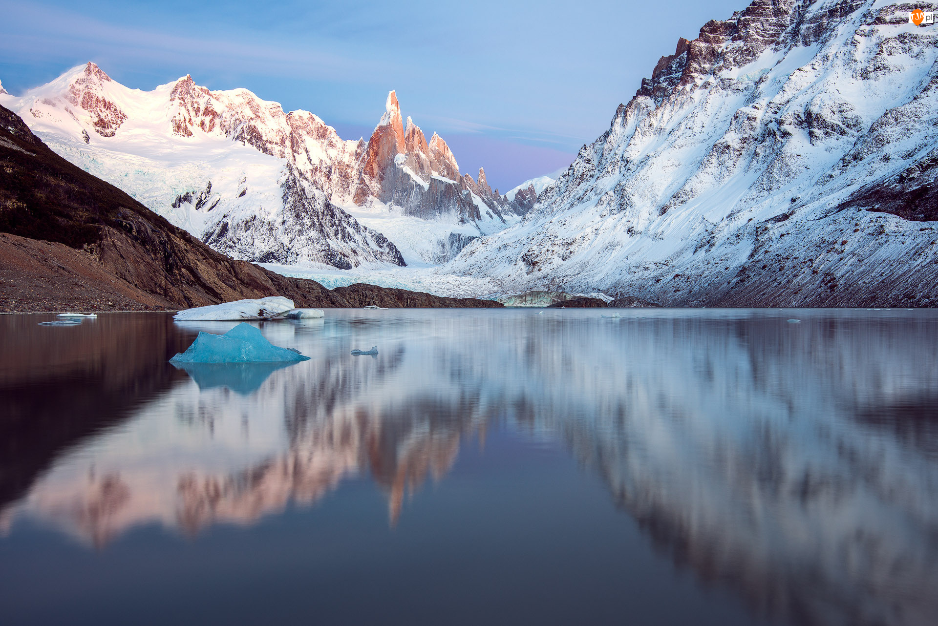 Góry, Śnieg, Jezioro, Zima
