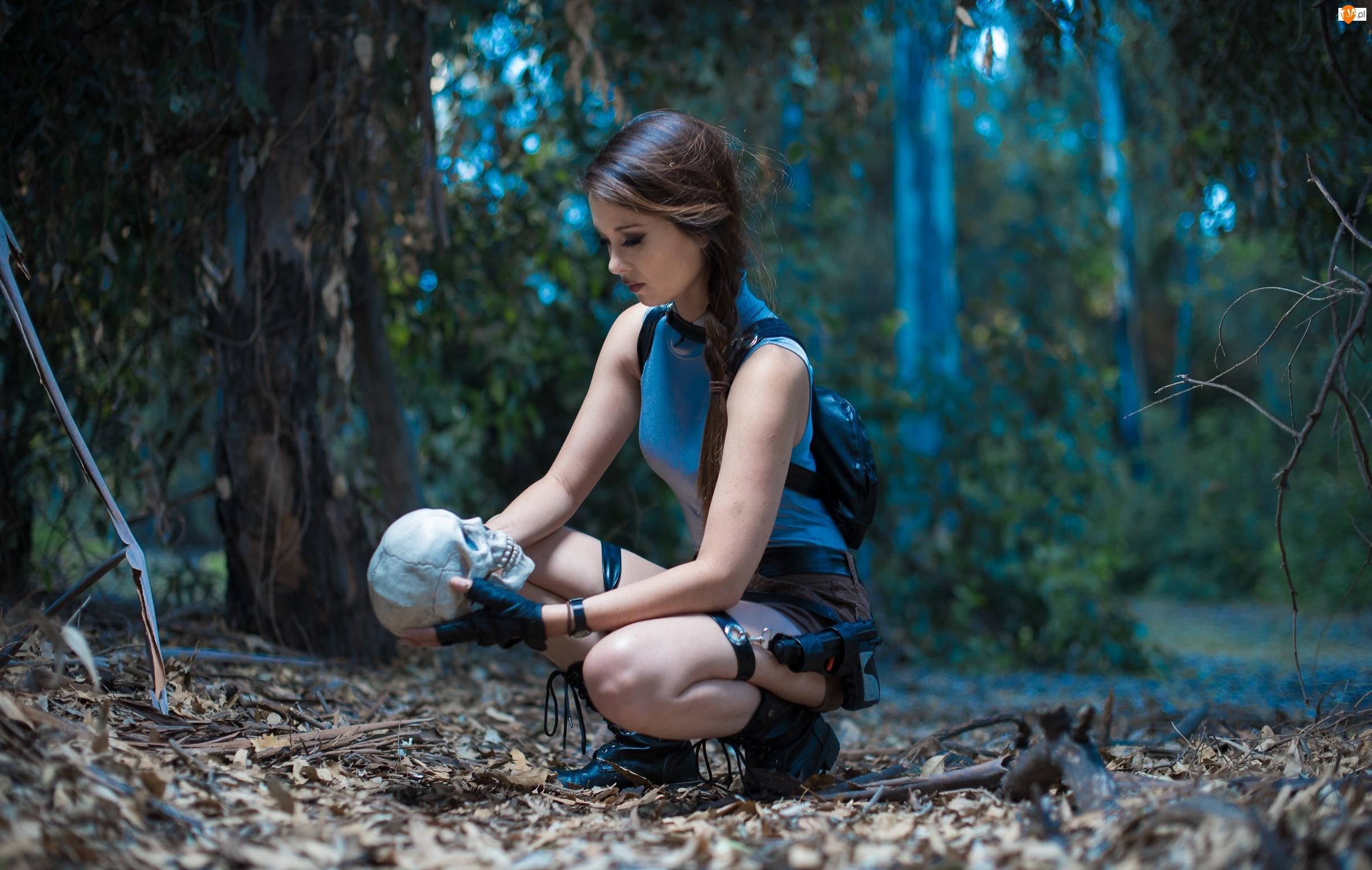 Kobieta, Lara Croft, Czaszka