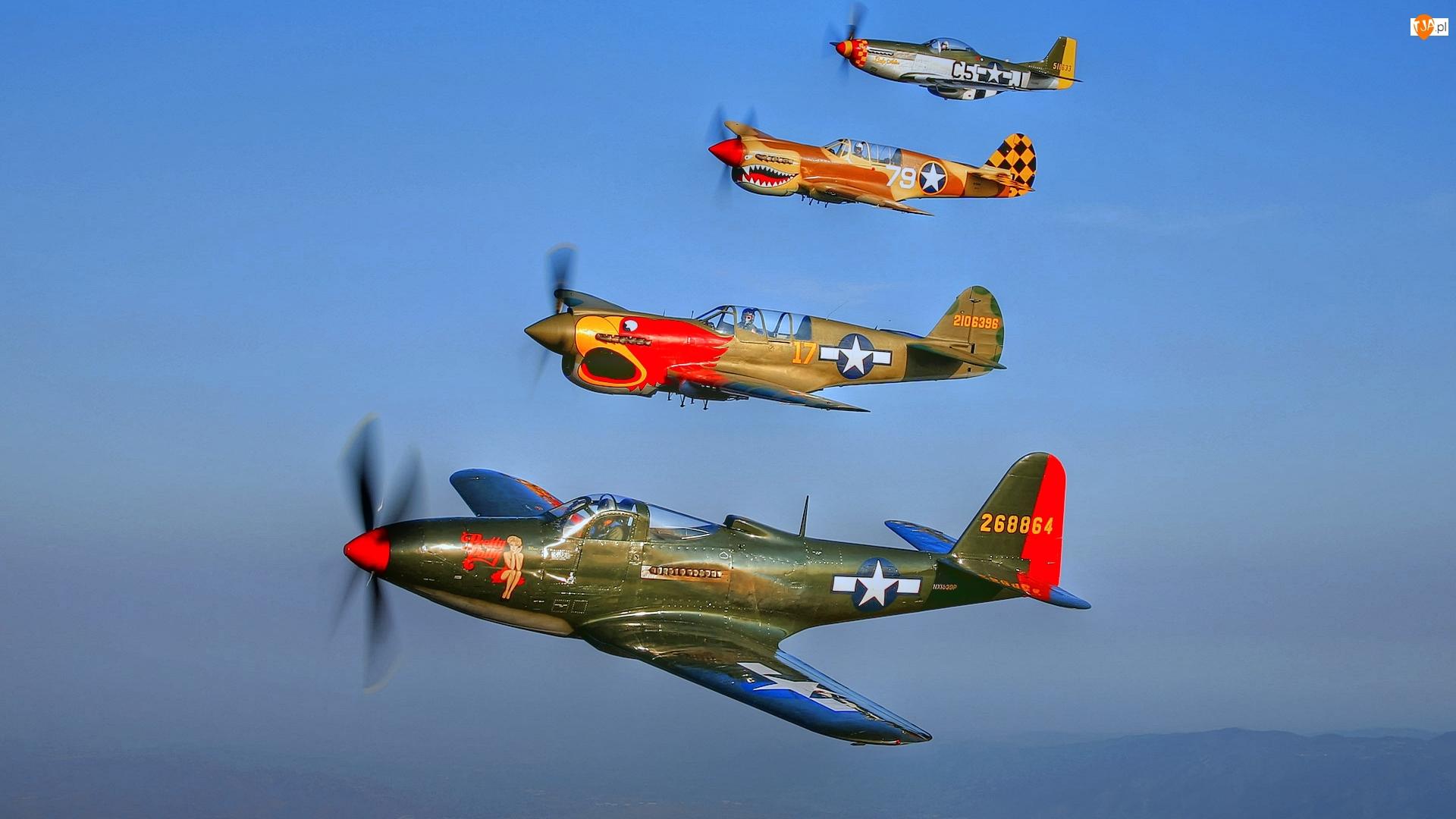 Samoloty, North American P-51 Mustang, Myśliwce, Curtiss P-40 Warhawk