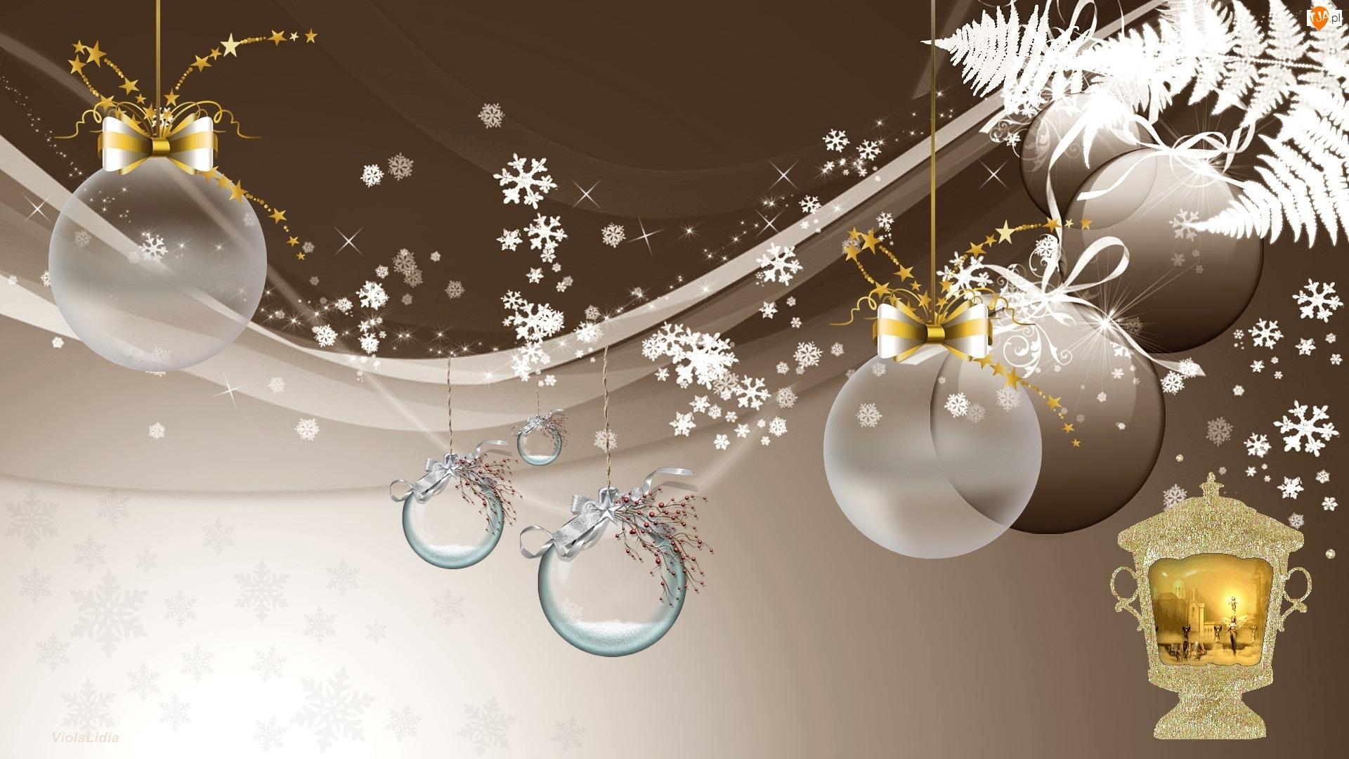 Grafika 2D, Bombki, Świąteczna, Dekoracja