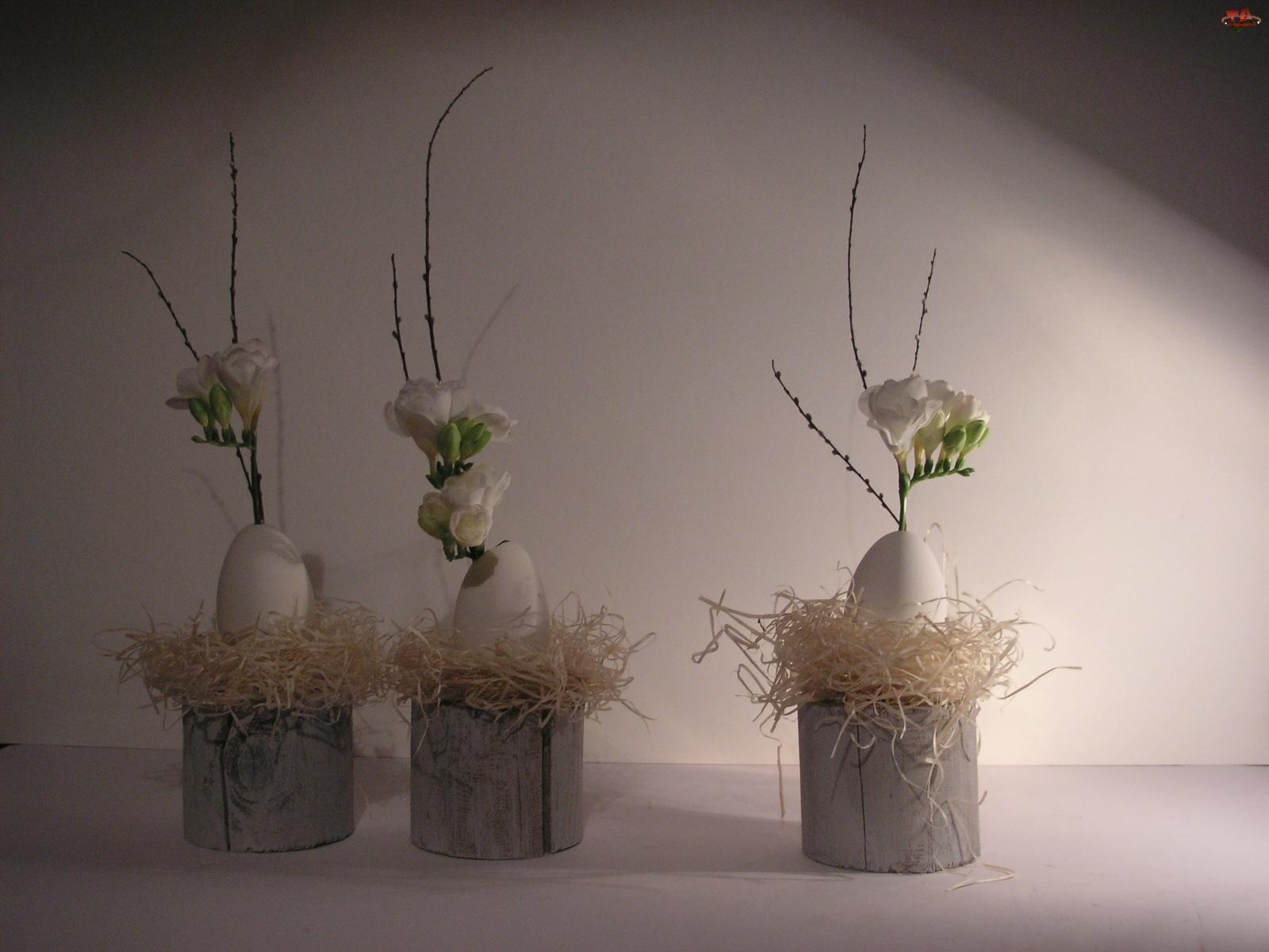 Kwiaty, Wielkanoc, Jajka