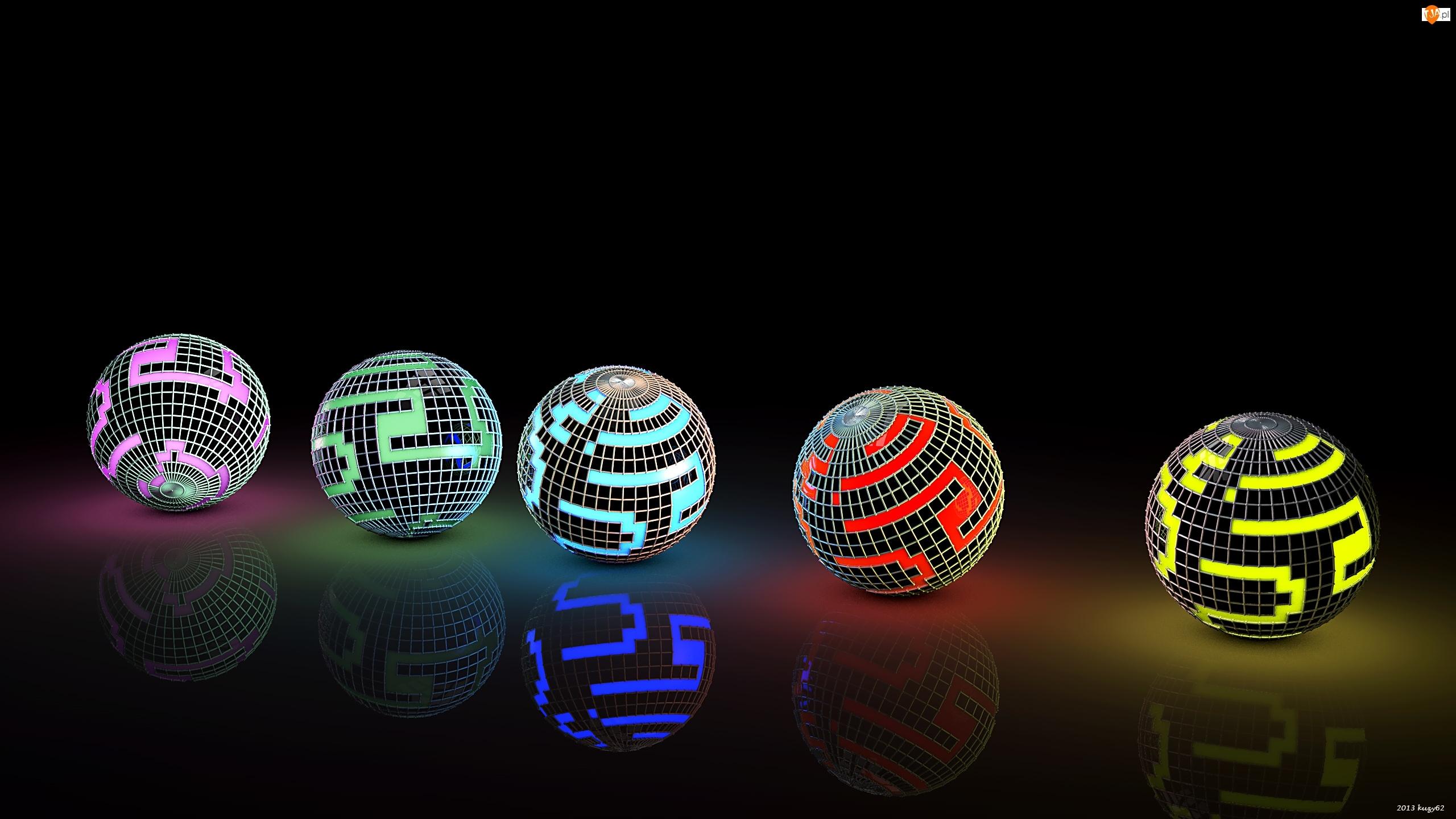 Grafika 3D, Kule, Wektorowa, Świecące