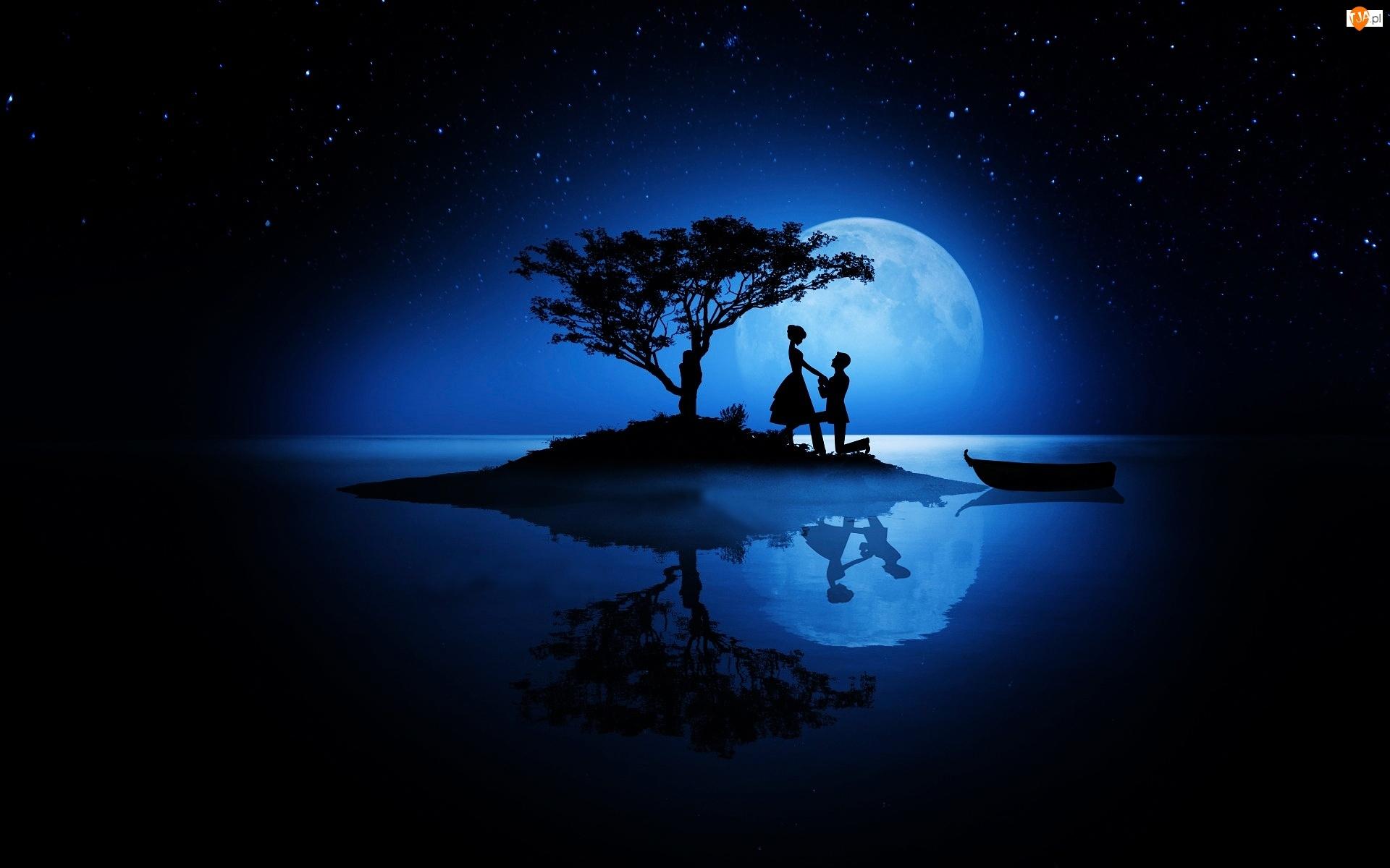 Grafika 2D, Księżyc, Miłość