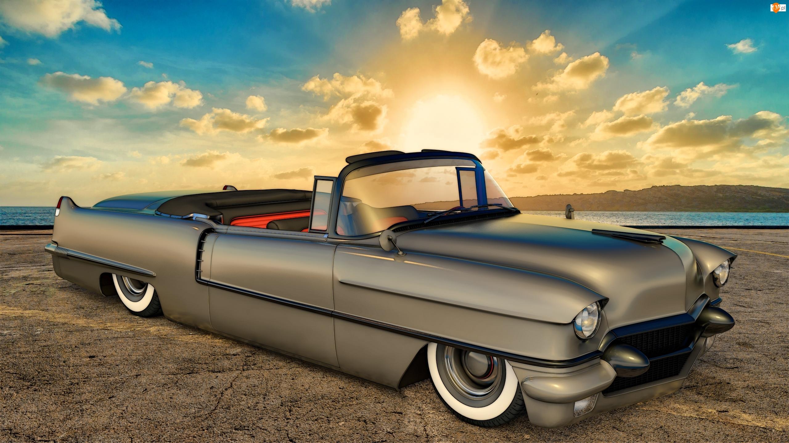 1956, Zabytkowy, Cadillac Series 62 Convertible