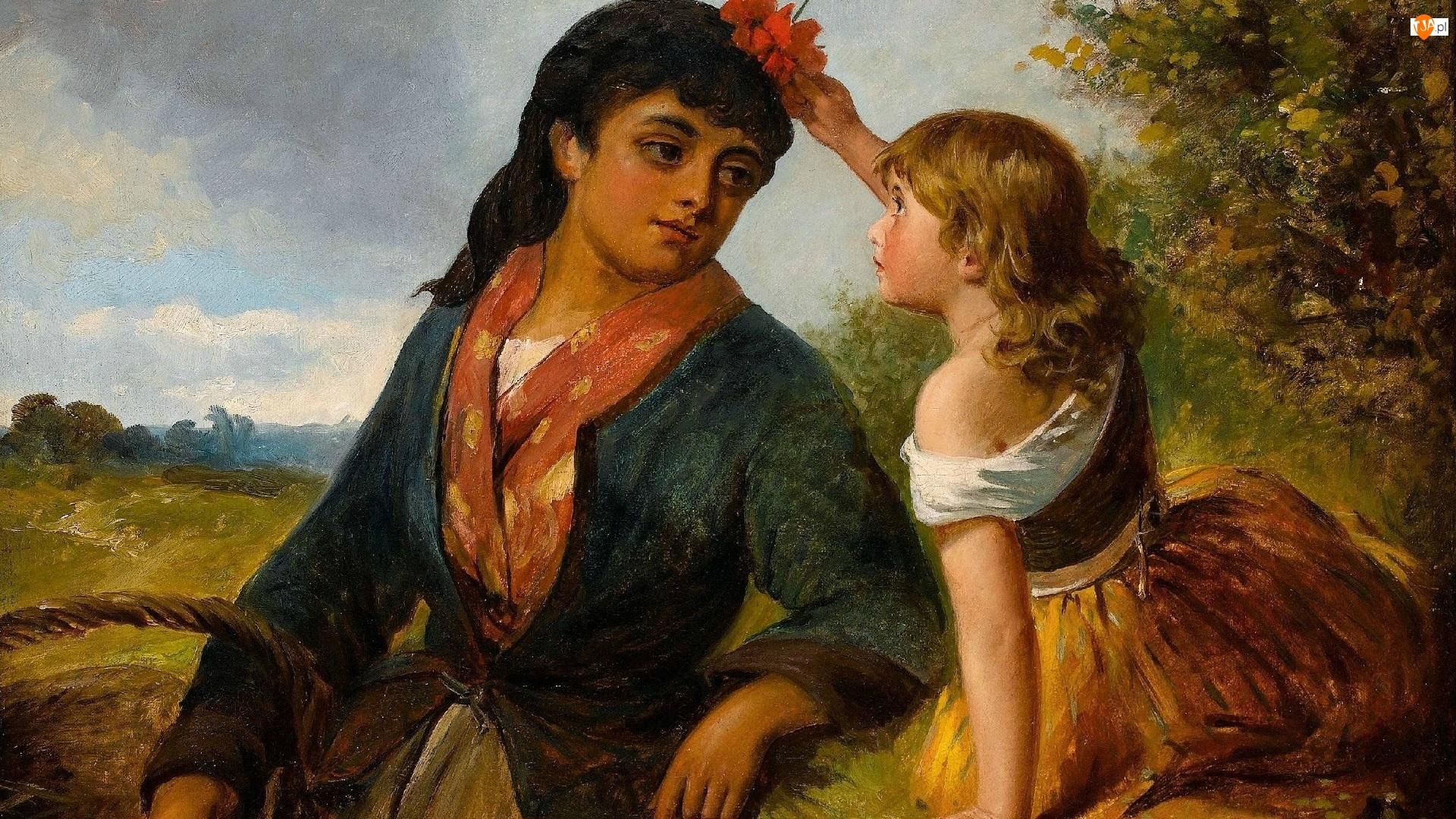 Dziecko, Mama, Reprodukcja obrazu, Córka, Kobieta