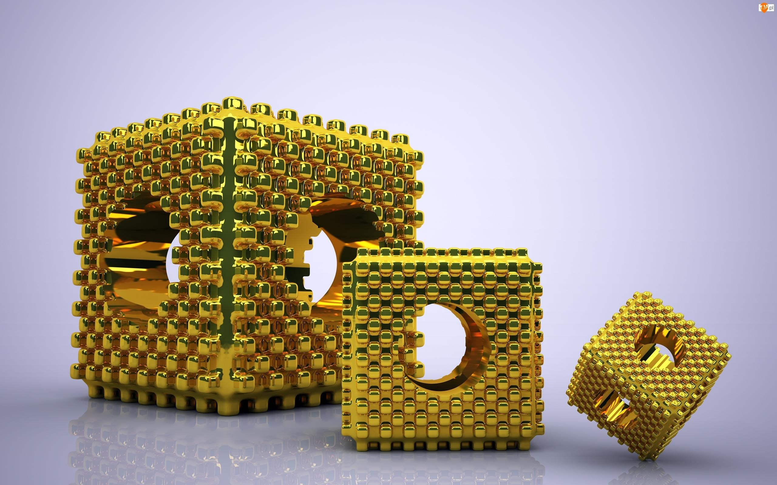 Elementy, Grafika 3D, Złote