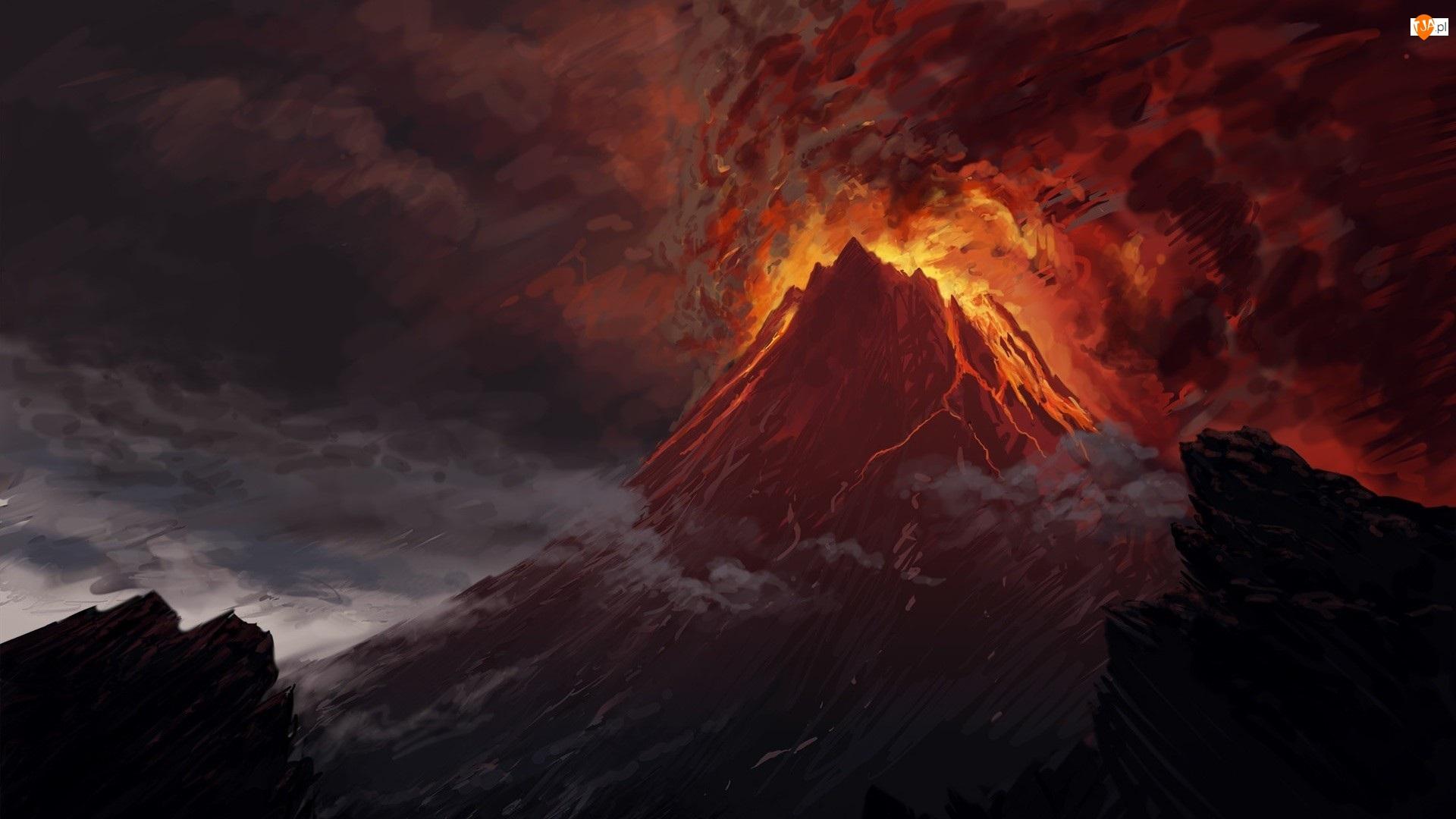 Paintography, Wulkan, Lawa