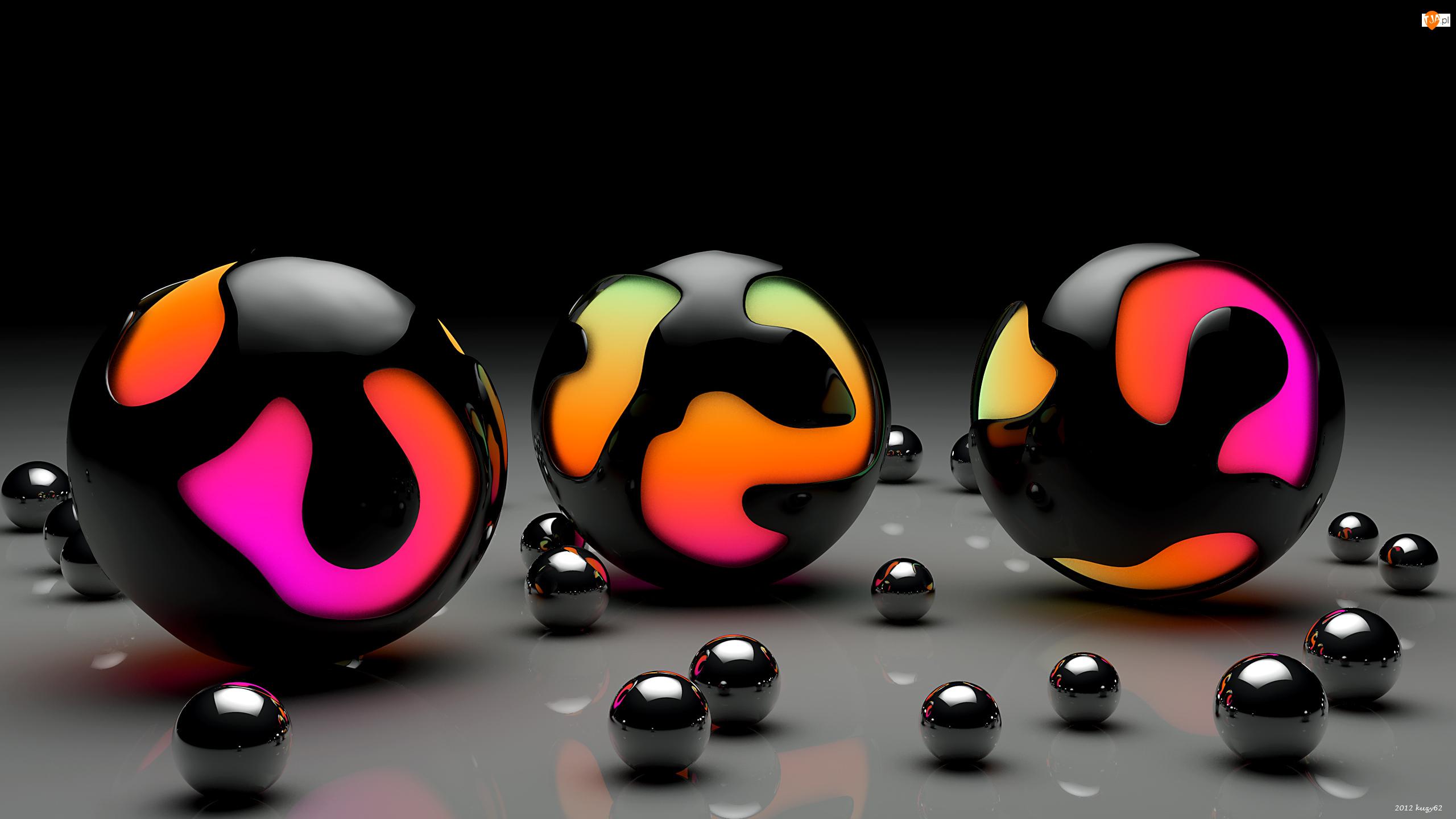 Kule, Grafika 3D, Kolorowe
