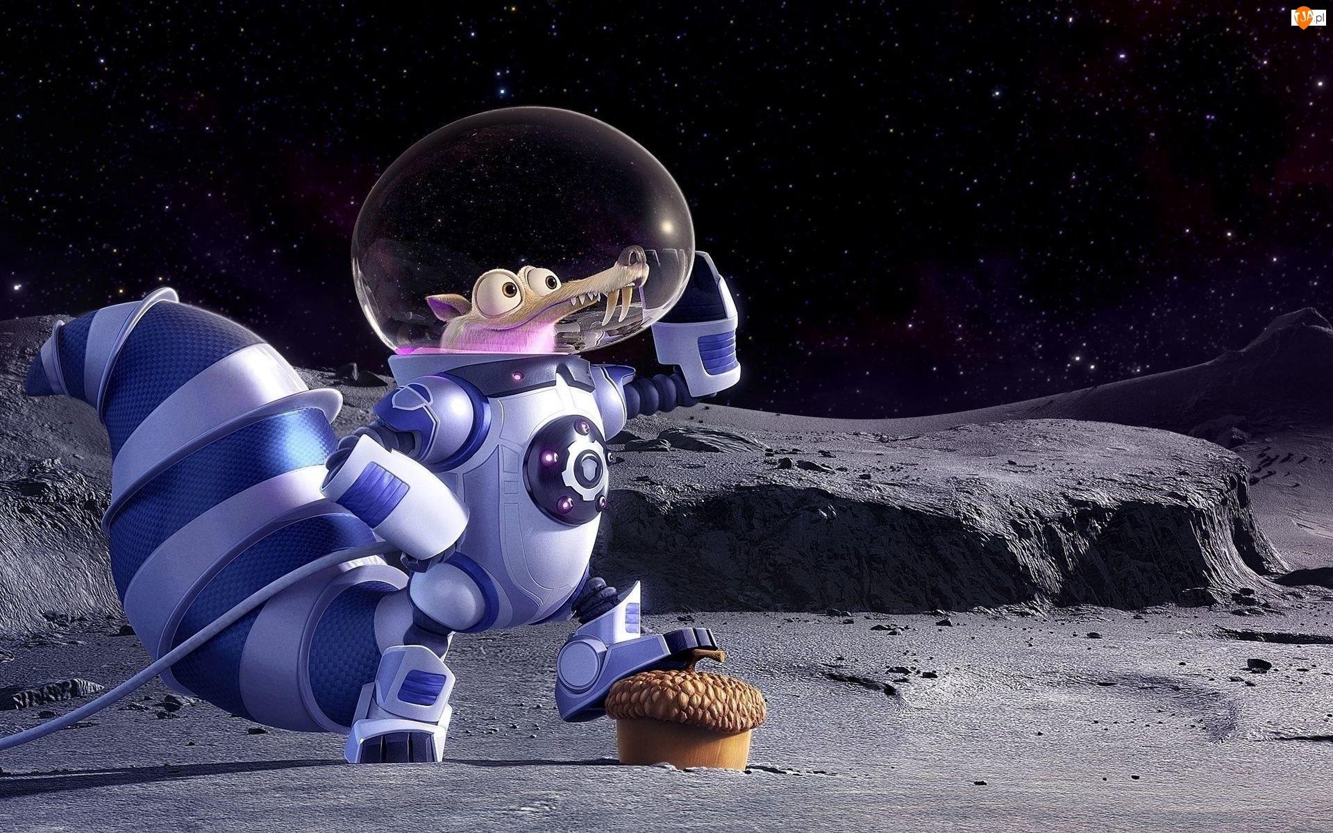 Śmieszne, Epoka lodowcowa, Astronauta, Wiewiór, Kosmos