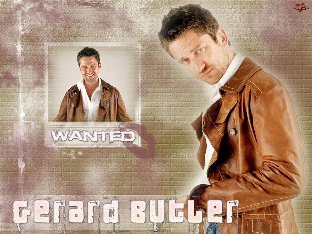 brązowa kurtka, Gerard Butler, wanted