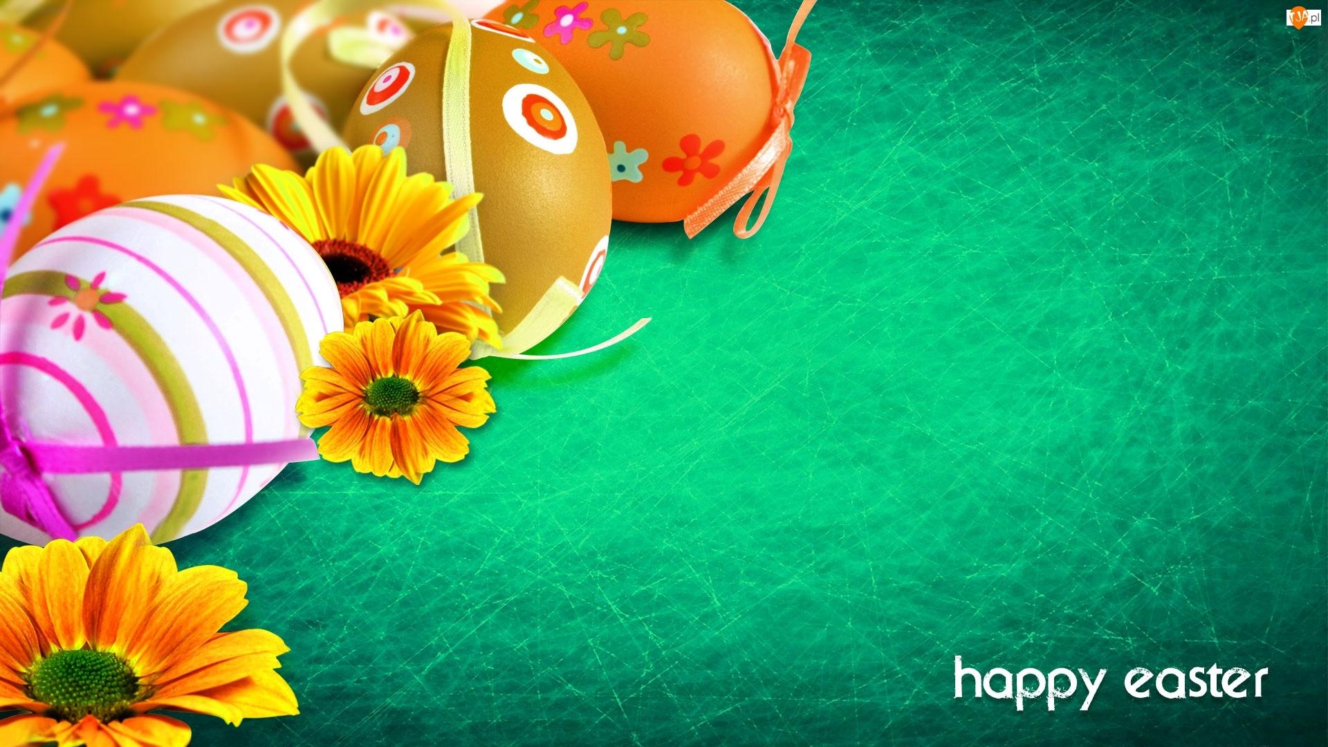 Grafika 2D, Wielkanoc, Pisanki, Dekoracja, Kwiatki