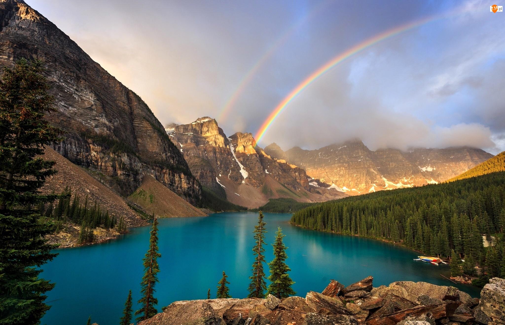 Kanada, Jezioro Moraine, Park Narodowy Banff, Dolina Dziesięciu Szczytów, Alberta