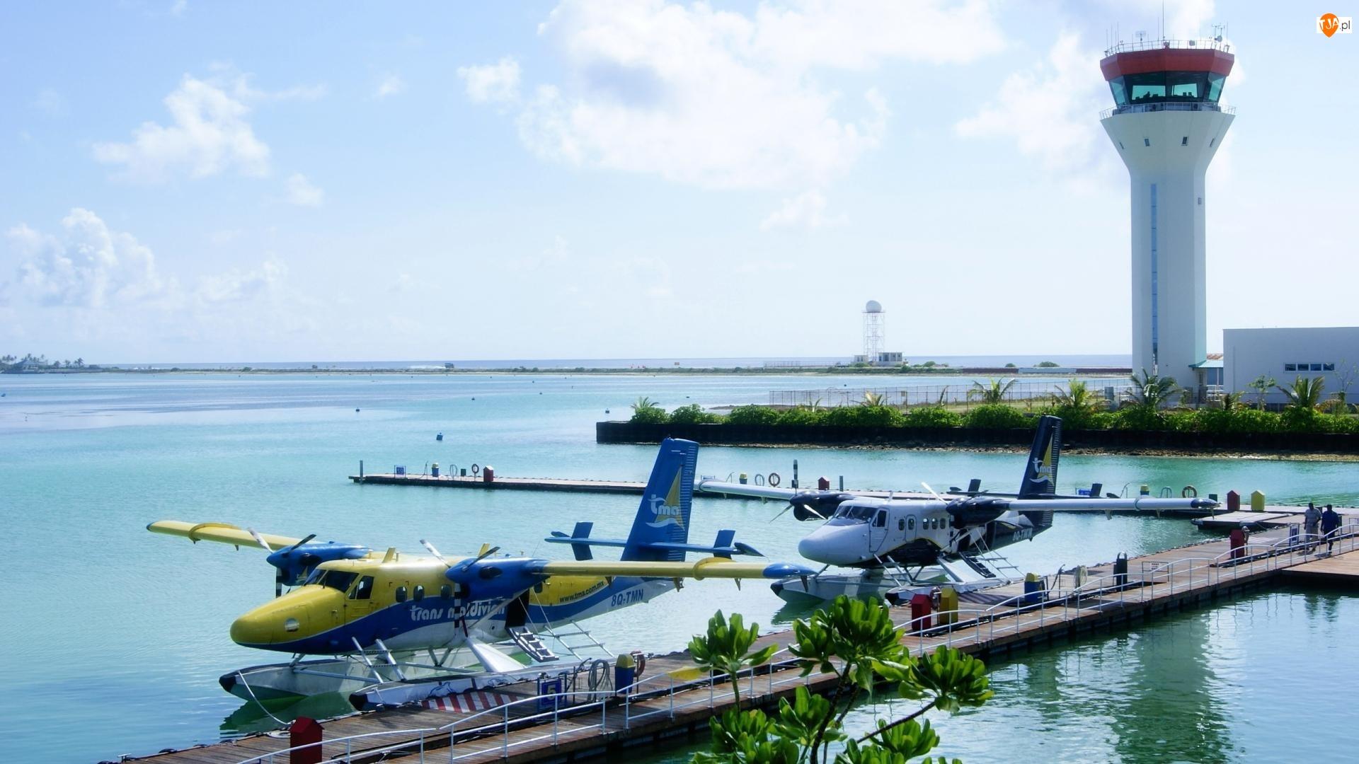 Malediwy, Ocean, Lotnisko, Samoloty