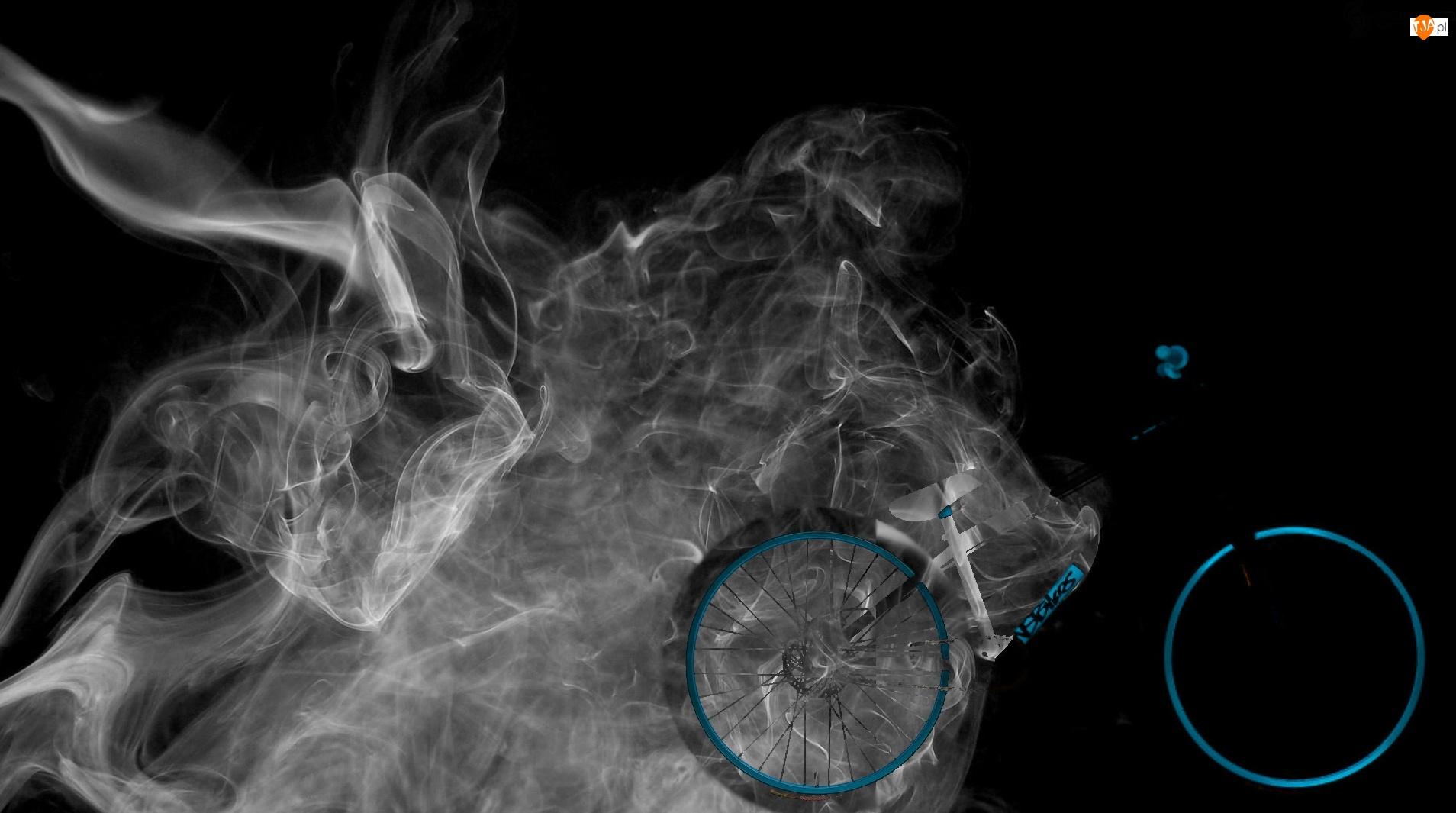 Rower, Dym
