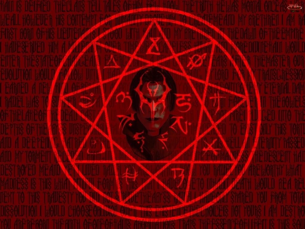 twarz, Legacy Of Kain Soul Reaver, gwiazda, logo, okrąg