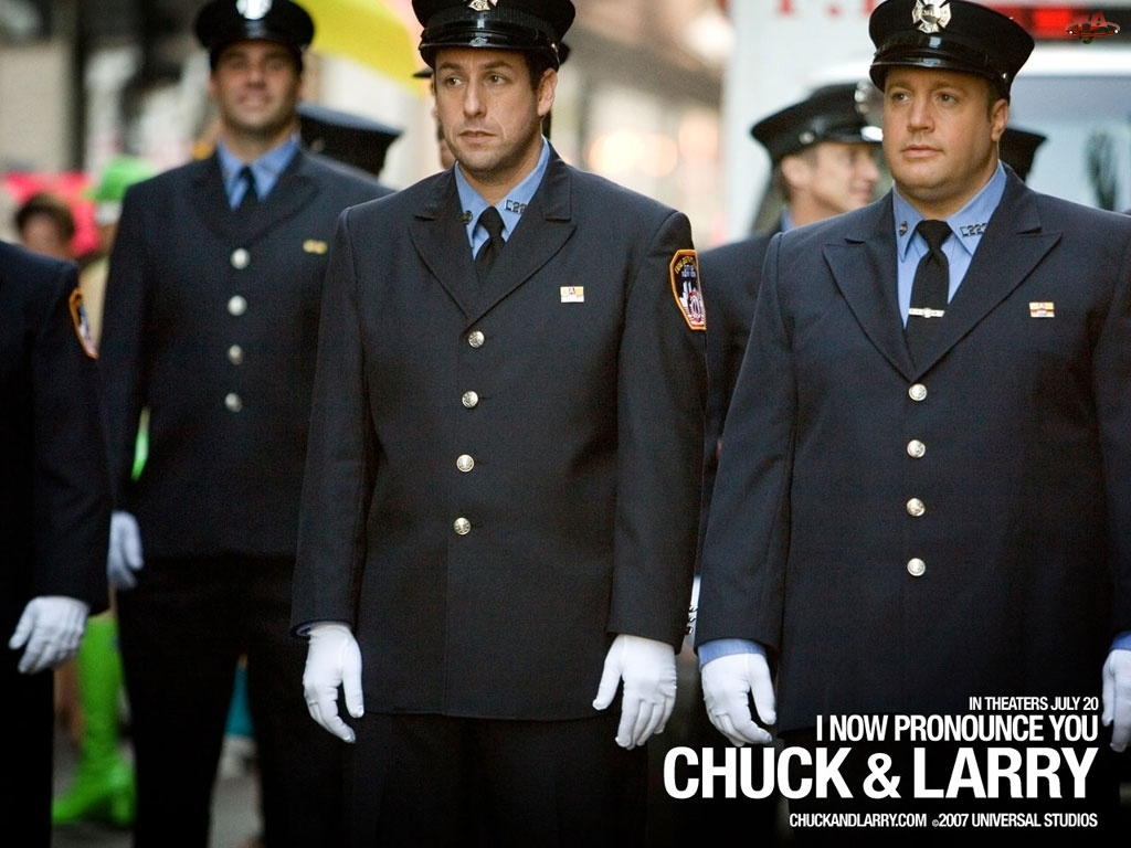 I Now Pronounce You Chuck And Larry, mundur, Adam Sandler, Kevin James