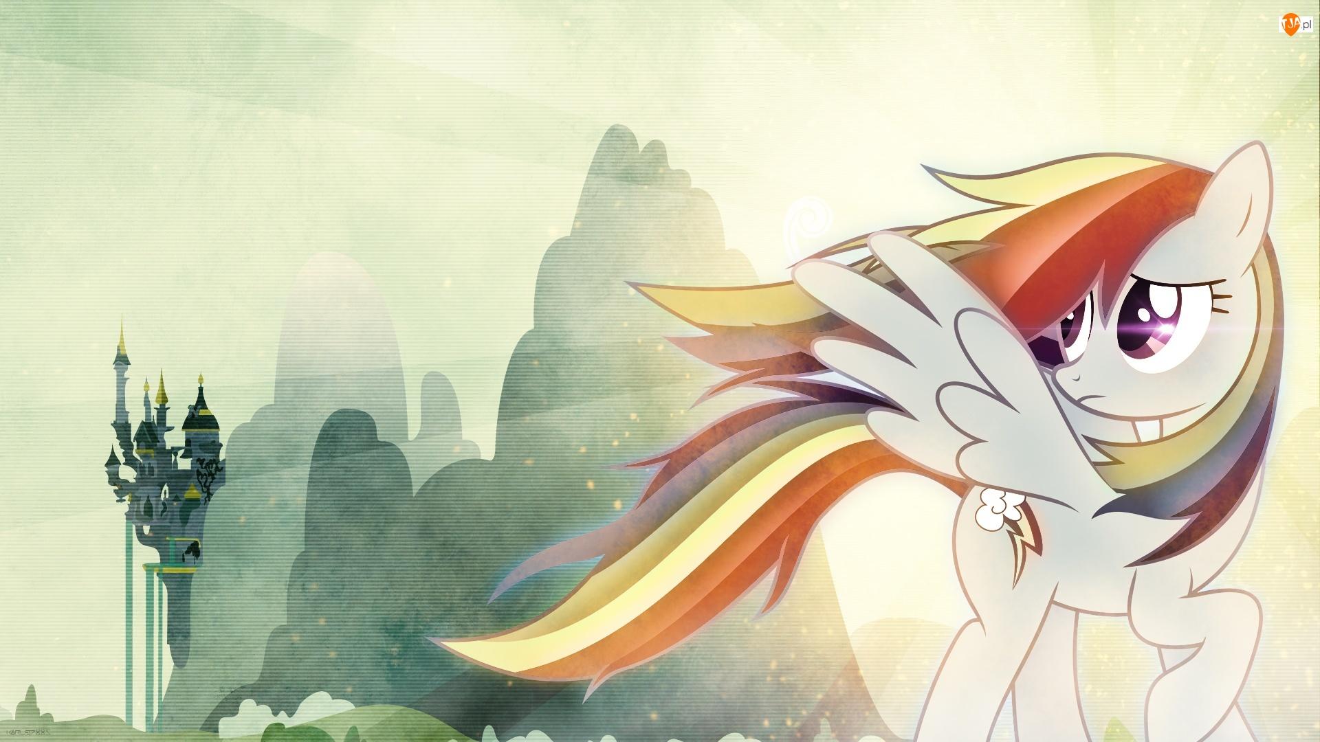 My Little Pony, Zamek, Rainbow Dash, Góry