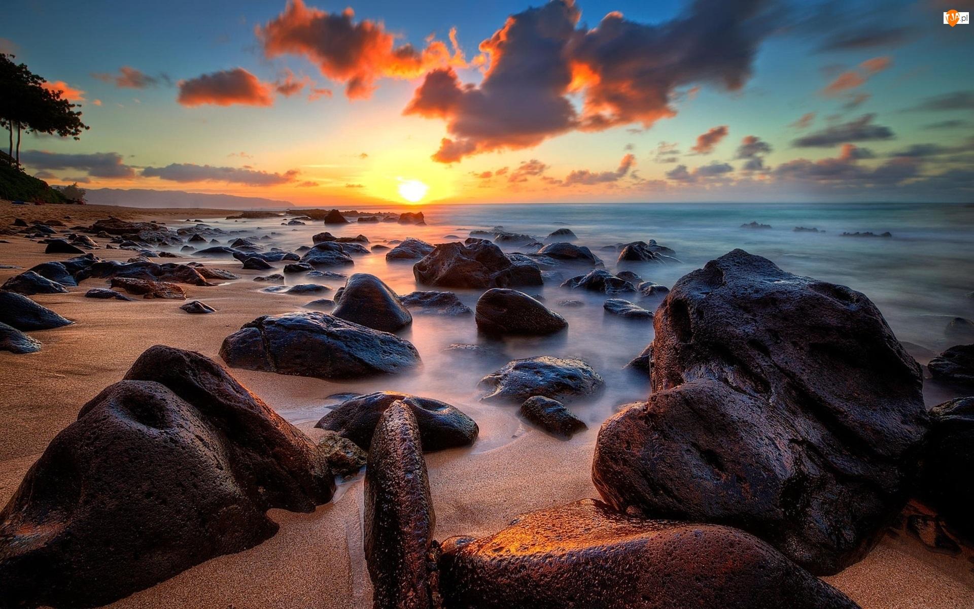 Wybrzeże, Morze, Duże, Kamienie