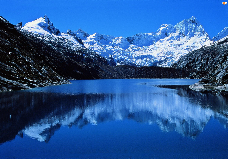 Jezioro, Góry Andy, Szczyt Alpamayo