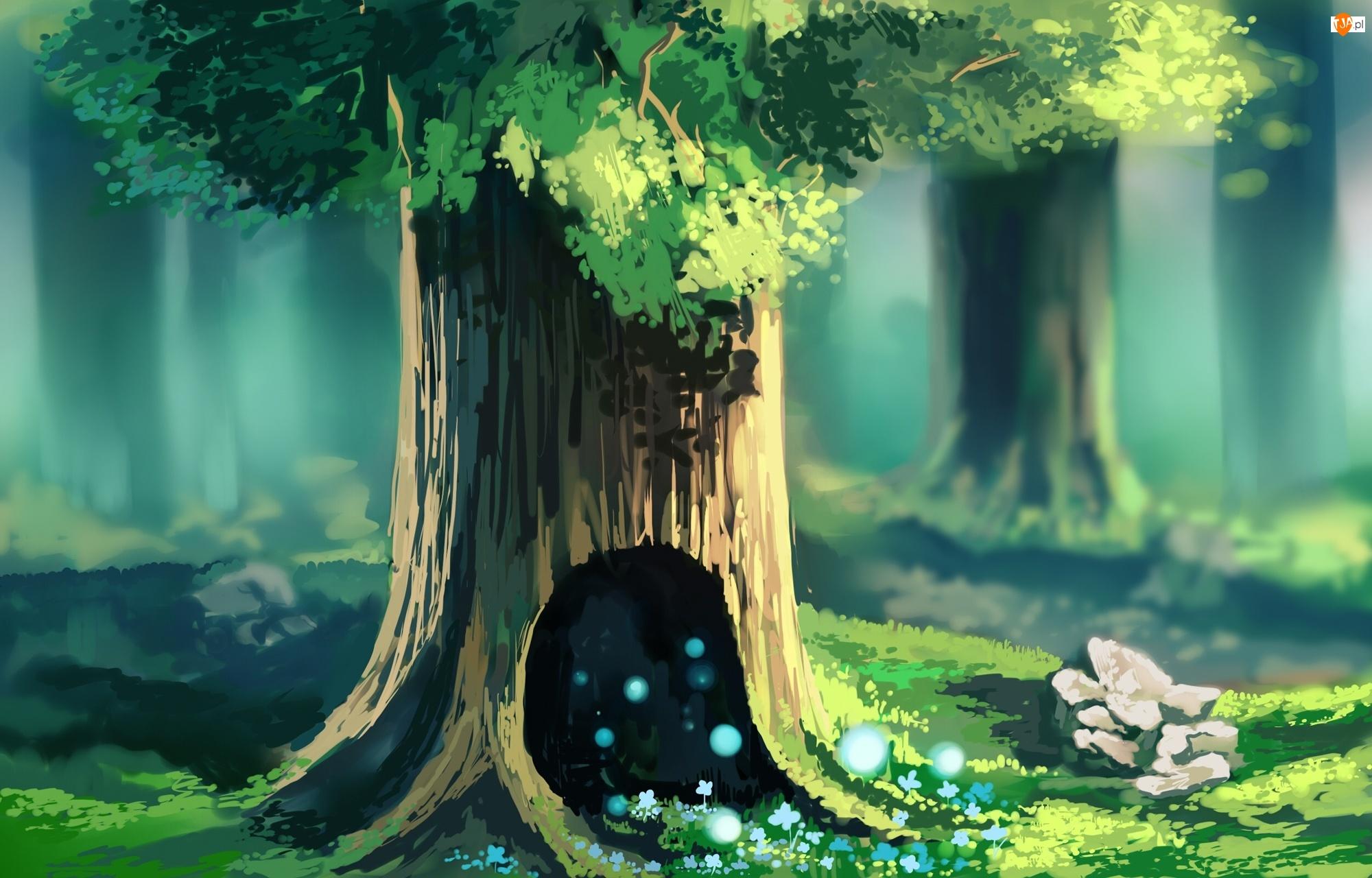 Las, Chibionpu, Drzewa