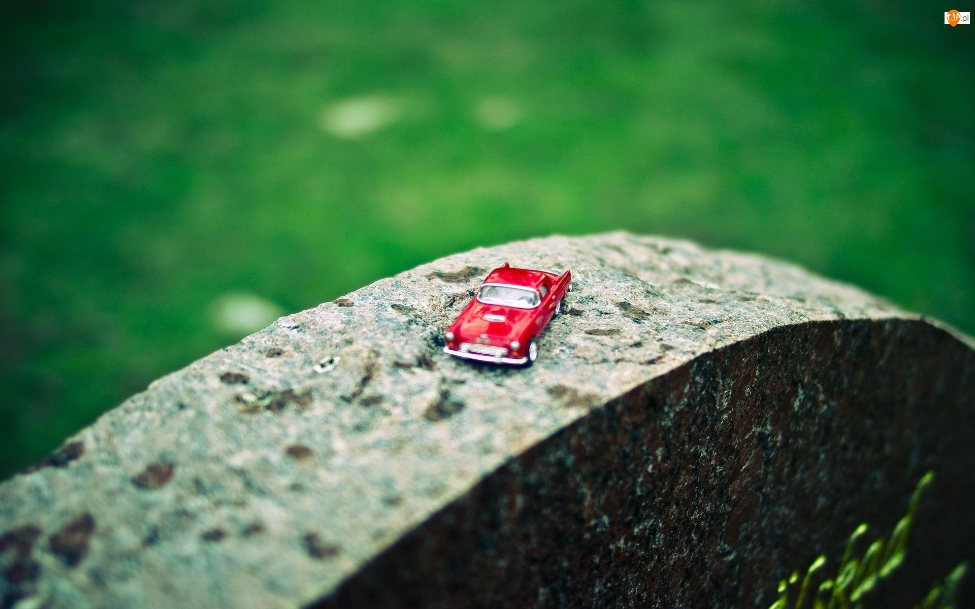 Kamień, Zabawka, Czerwony, Samochodzik