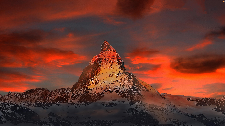 Zachód Słońca, Góra, Zima