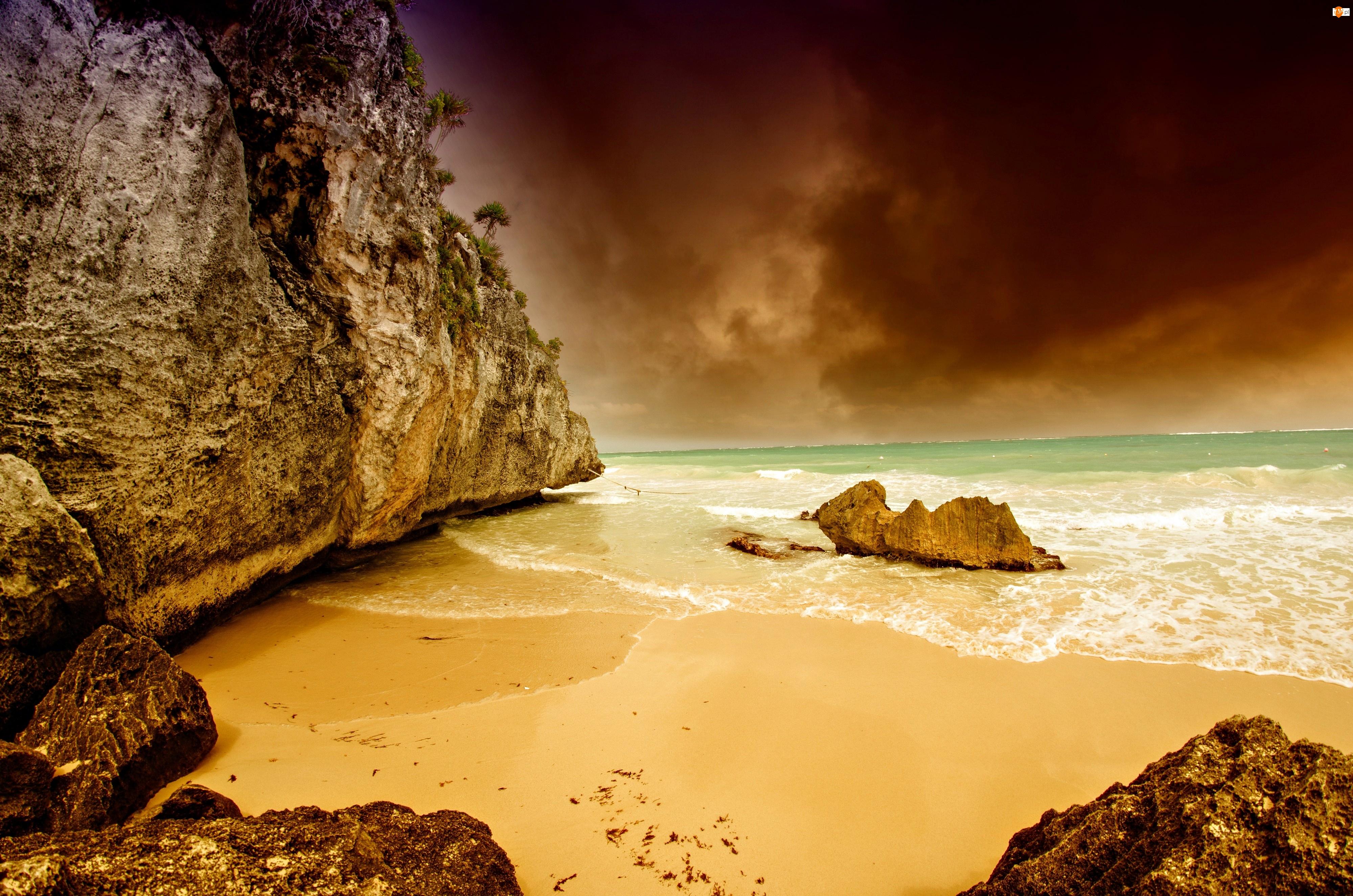 Wybrzeże, Skały, Plaża