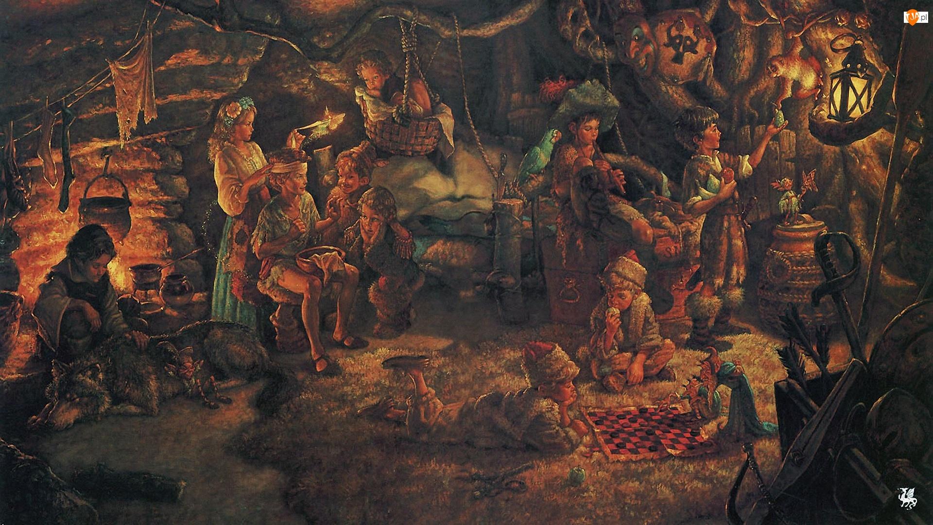 Dzieci, Scott Gustafson, Malarstwo, Piotruś Pan