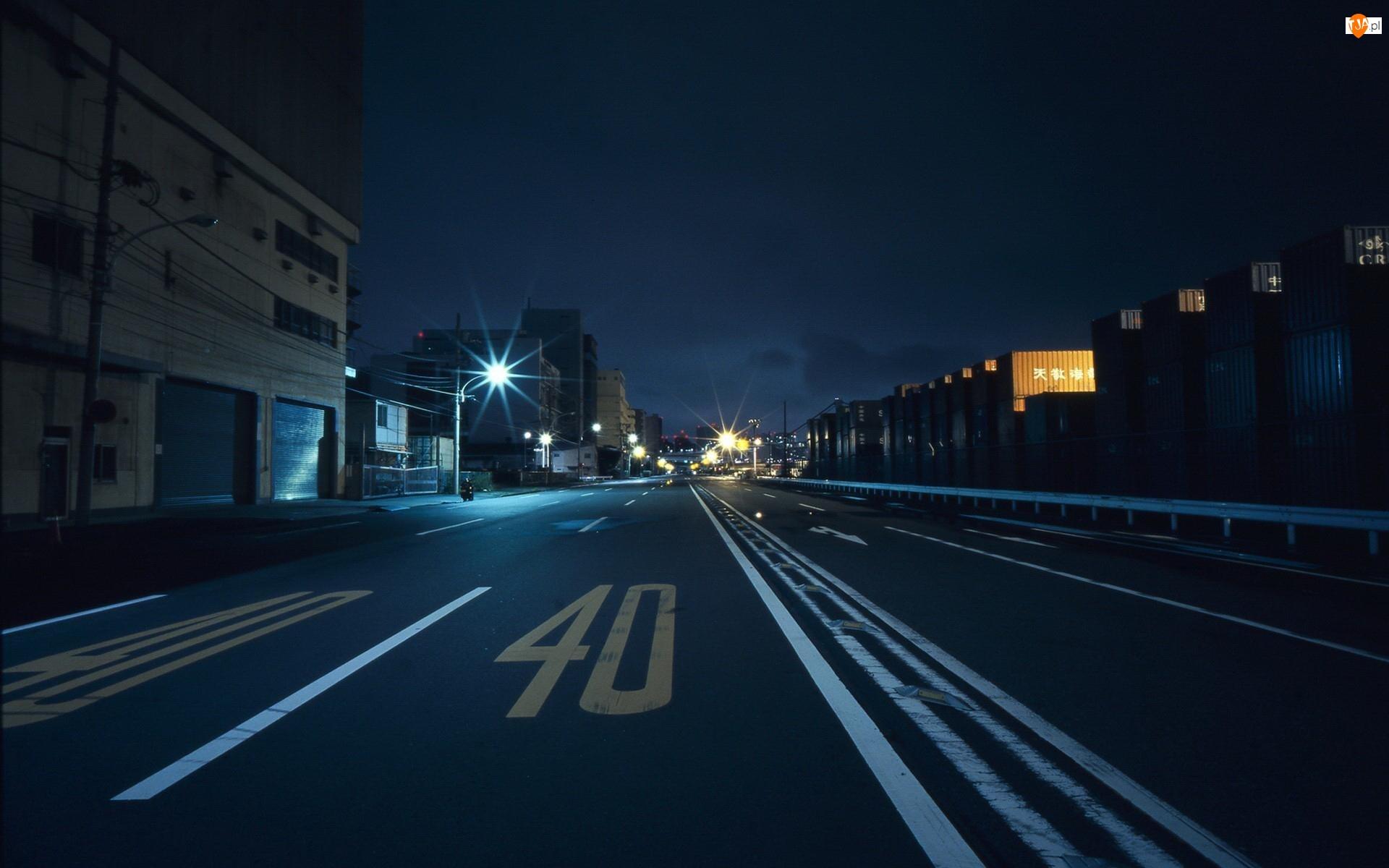 Noc, Ulica, Budynki