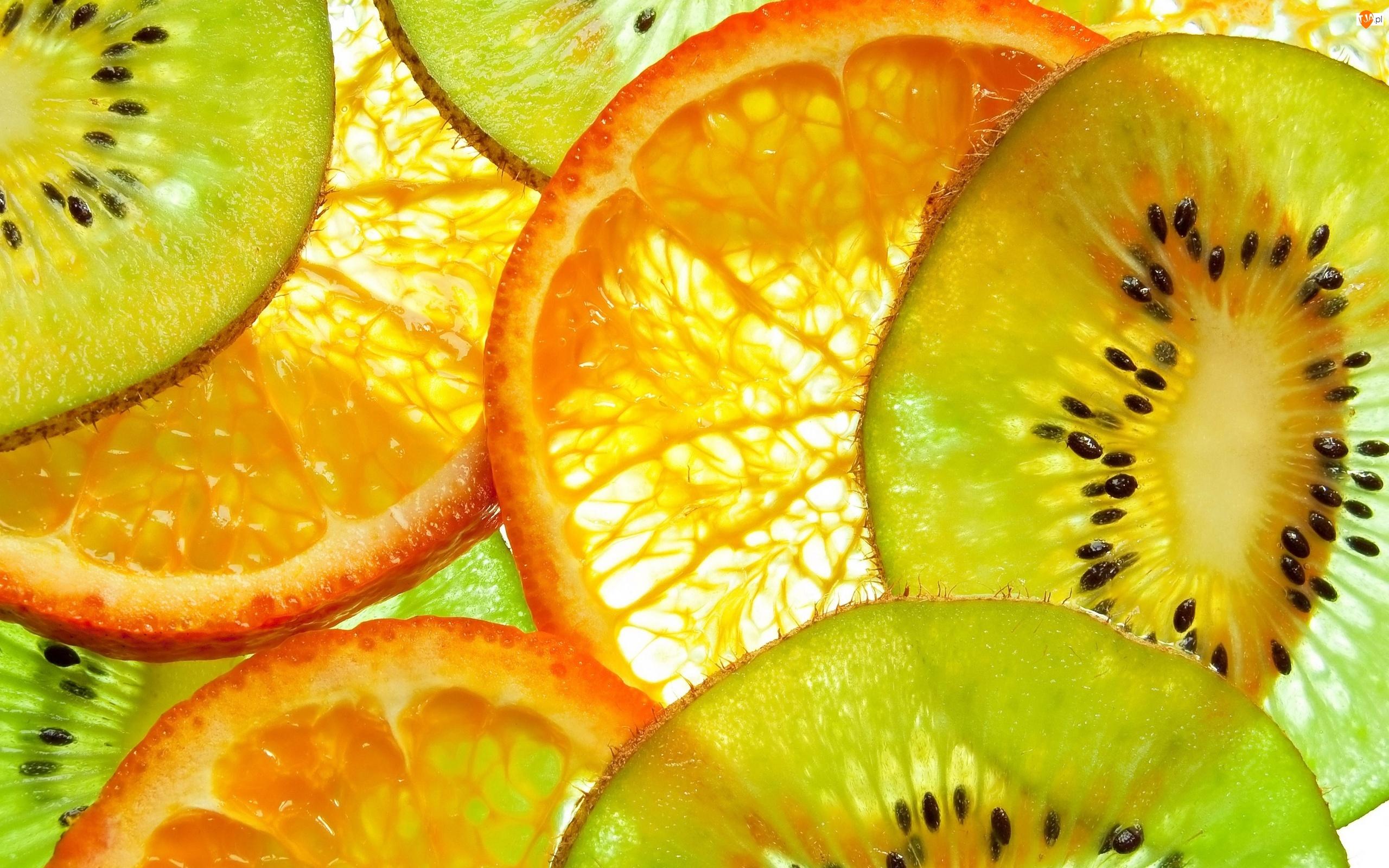 Owoce, Pomarańcza, Kiwi