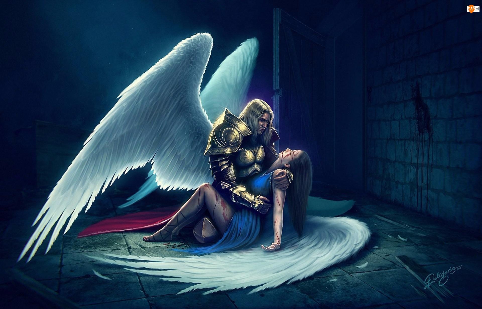 Anioły, Krew, Kobieta, Mężczyzna