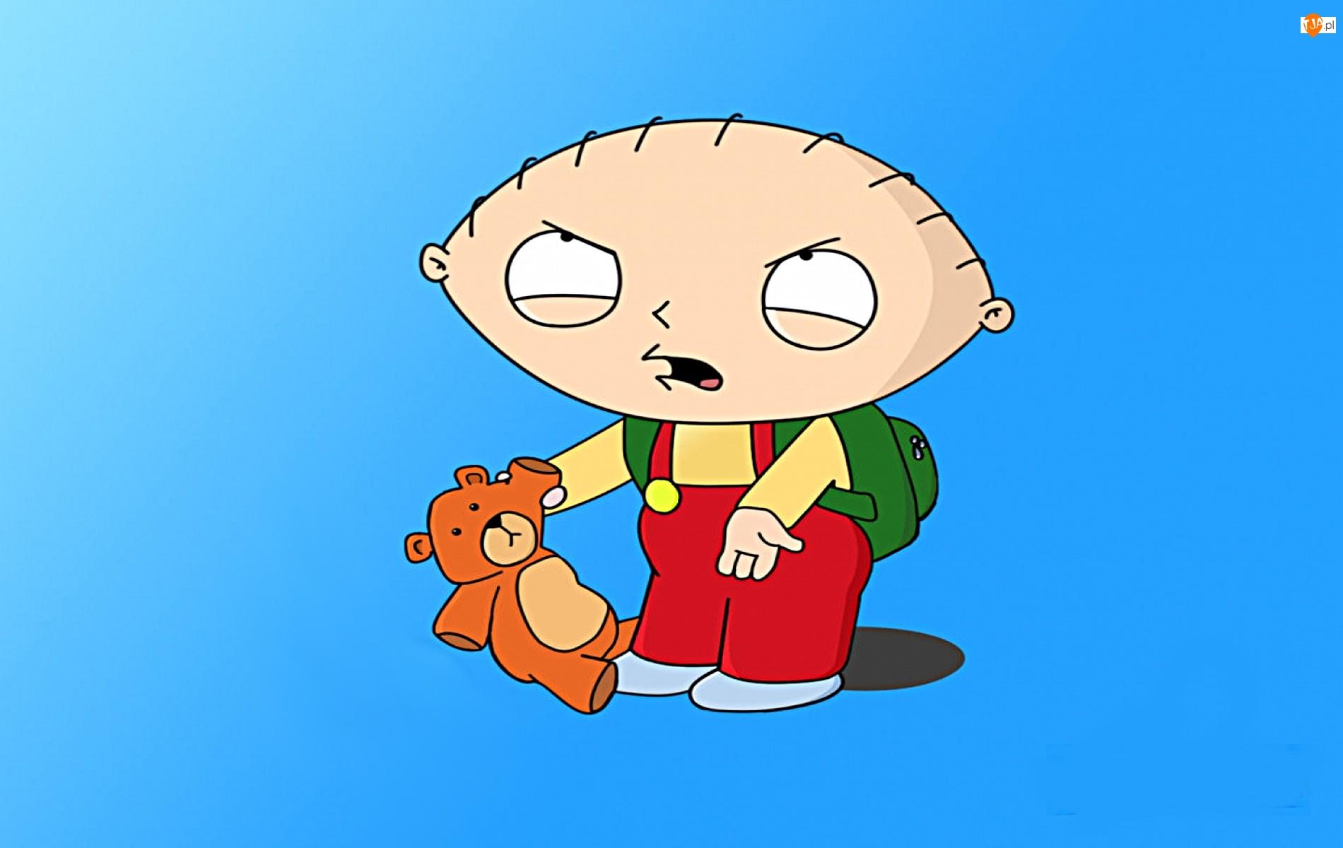 serial animowany, Stewie, Family Guy, Głowa Rodziny, misiek
