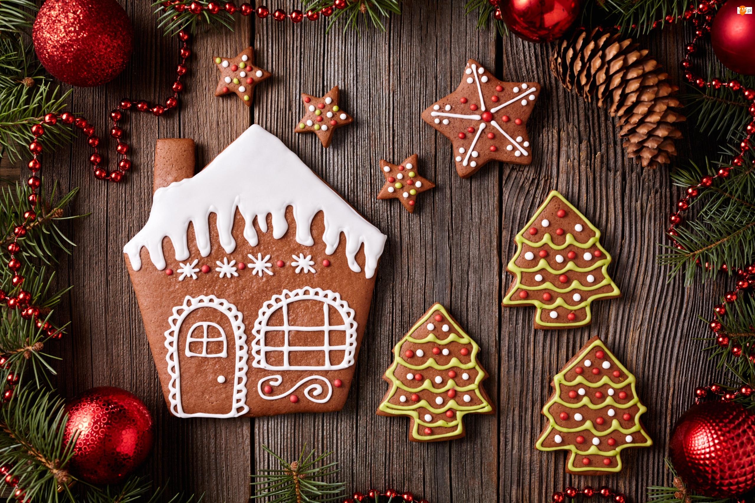 Pierniczki, Świąteczne, Bombki, Ozdoby