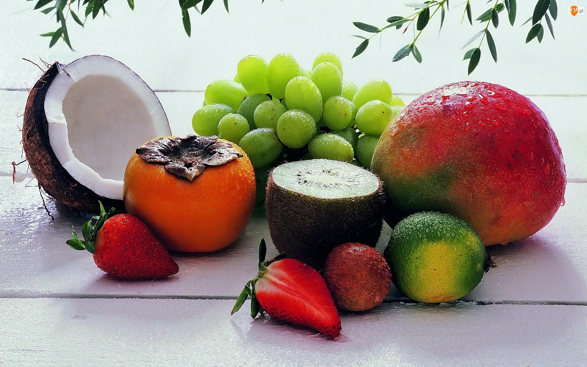 Owoce, Wody, Egzotyczne, Kropelki